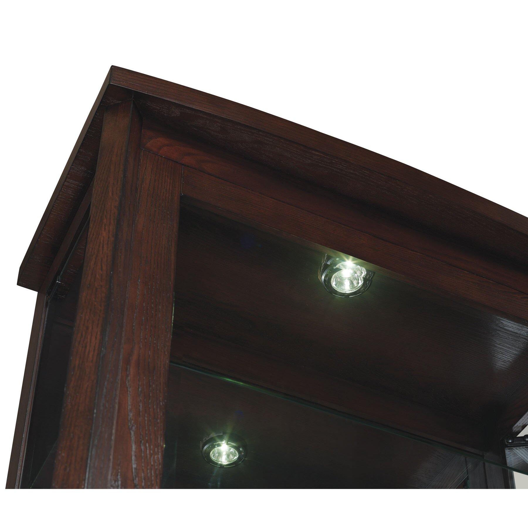 Curio Cabinet Lights Classic Flame Boomerang Curio Cabinet Reviews Wayfair