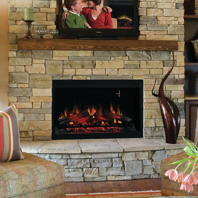 """Classic Flame 36"""" Built-In Wall Mount Electric Fireplace Insert - Classic Flame 36"""