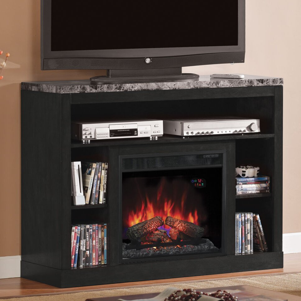 Classic Flame Adams TV Stand with Electric Fireplace - Classic Flame Adams TV Stand With Electric Fireplace & Reviews