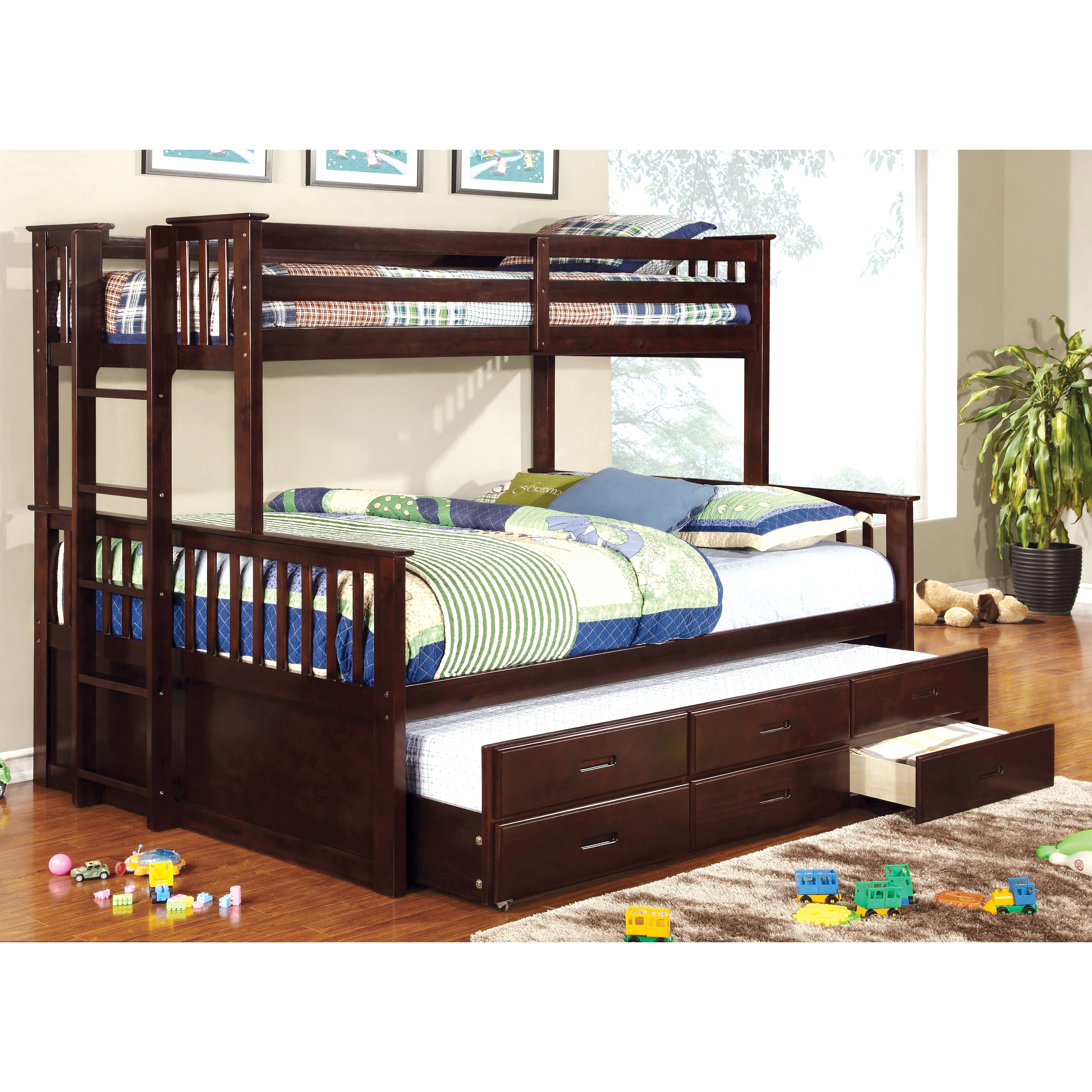 Hokku Designs Emmerson Twin over Queen Bunk Bed & Reviews