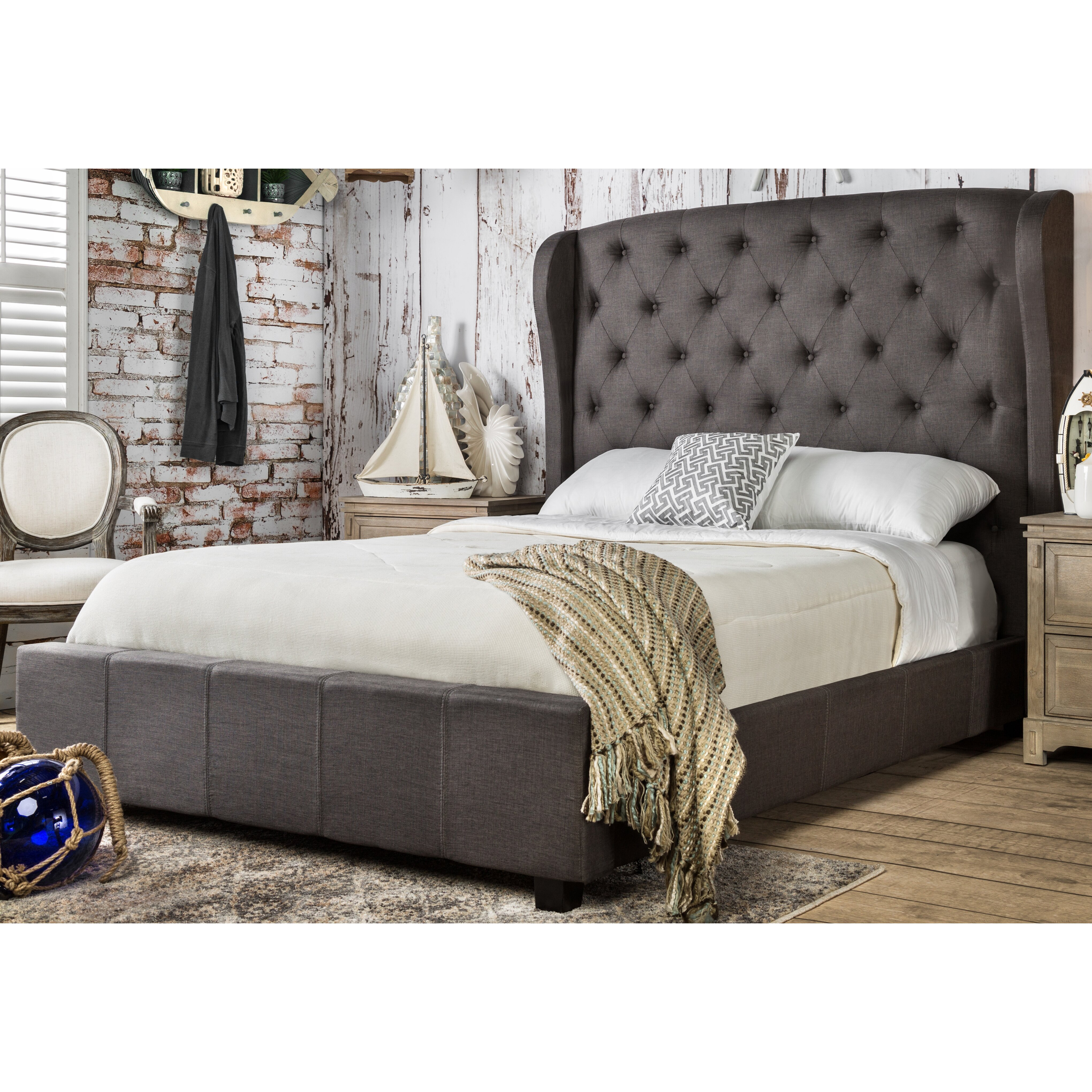 Mckenzie Bedroom Furniture Mckenzie Upholstered Platform Bed Reviews Joss Main
