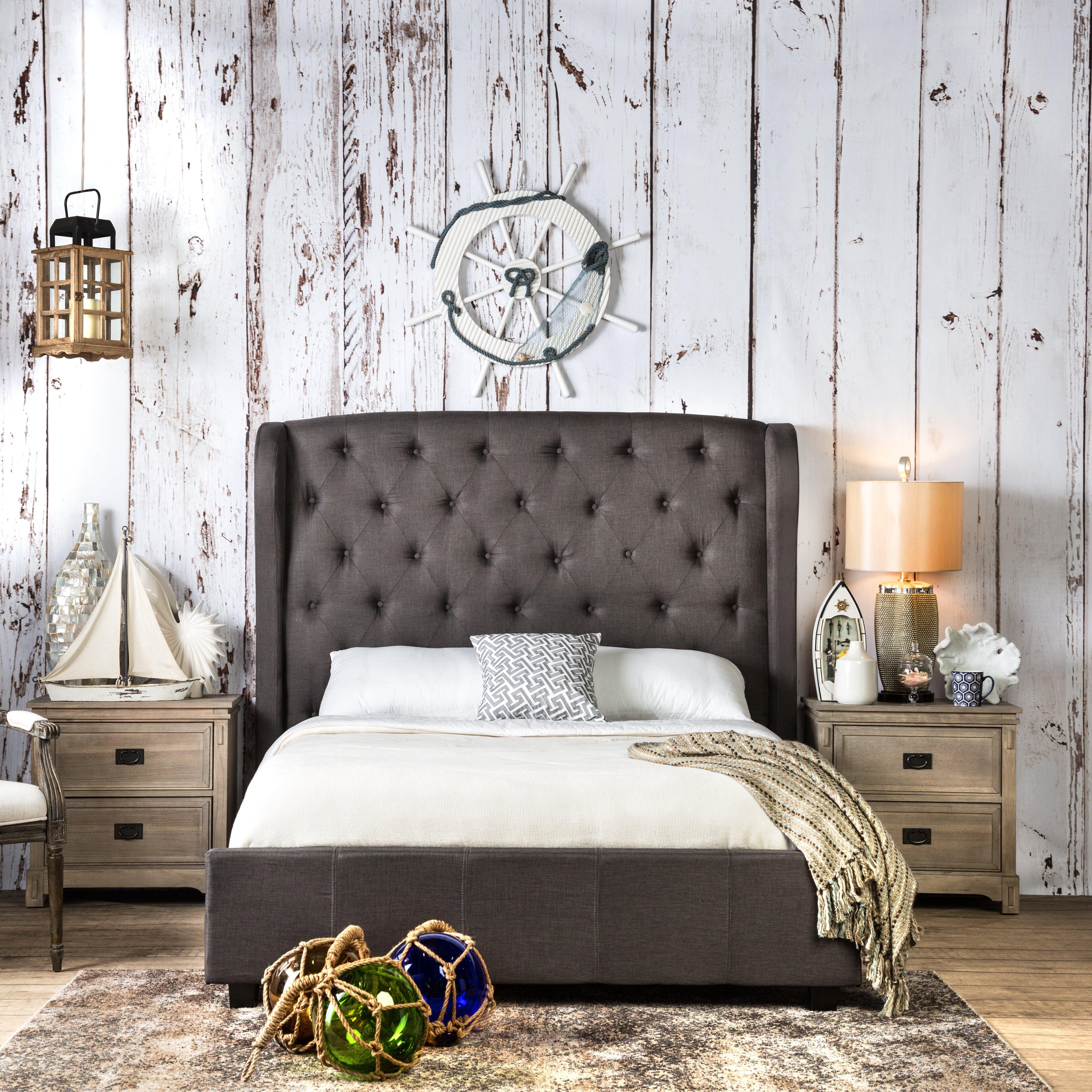 Platform Bedroom Hokku Designs Florenza Upholstered Platform Bed Reviews Wayfair