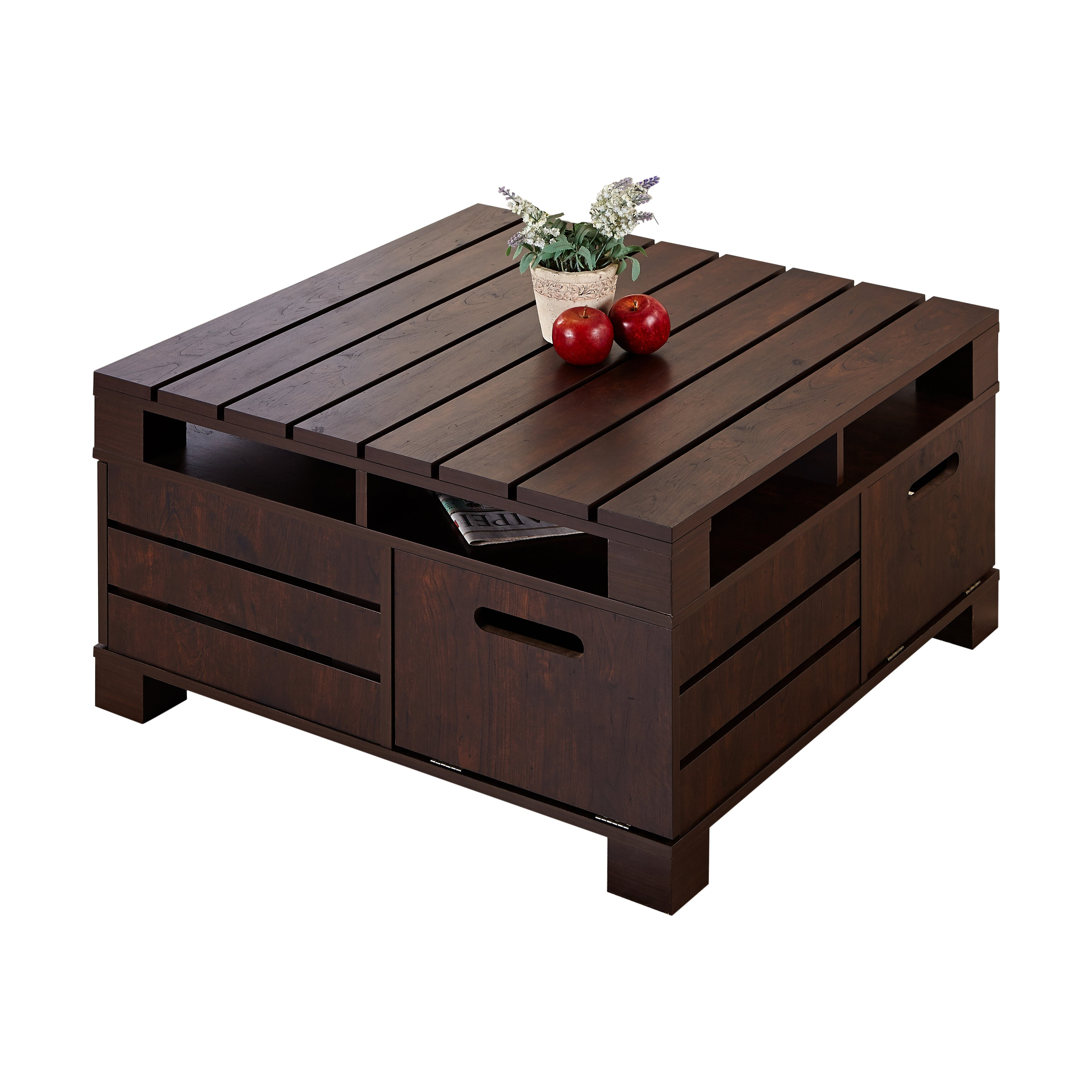 hokku designs pallet coffee table reviews wayfair. Black Bedroom Furniture Sets. Home Design Ideas
