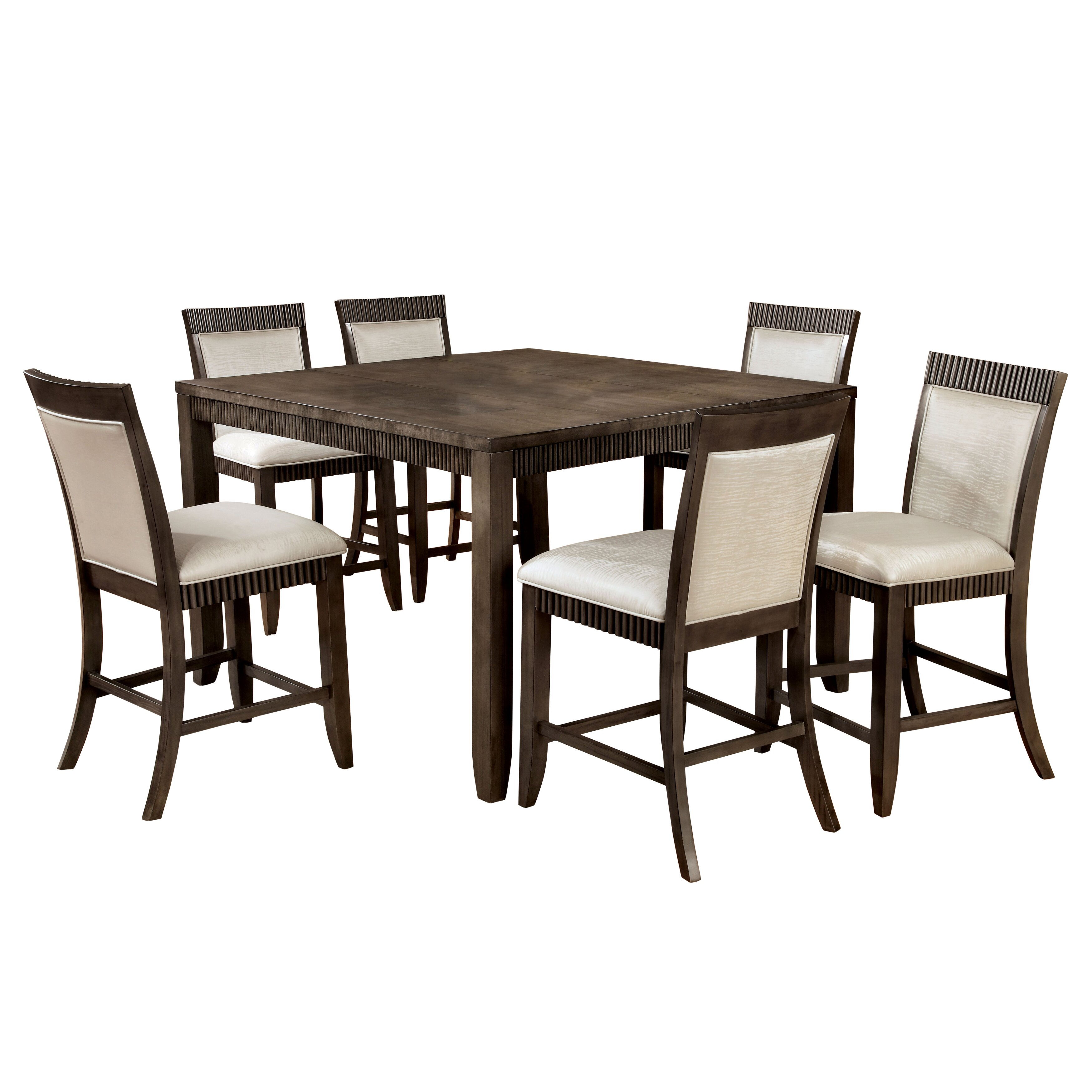 Hokku designs gayet 7 piece counter height dining set for Hokku designs dining room furniture