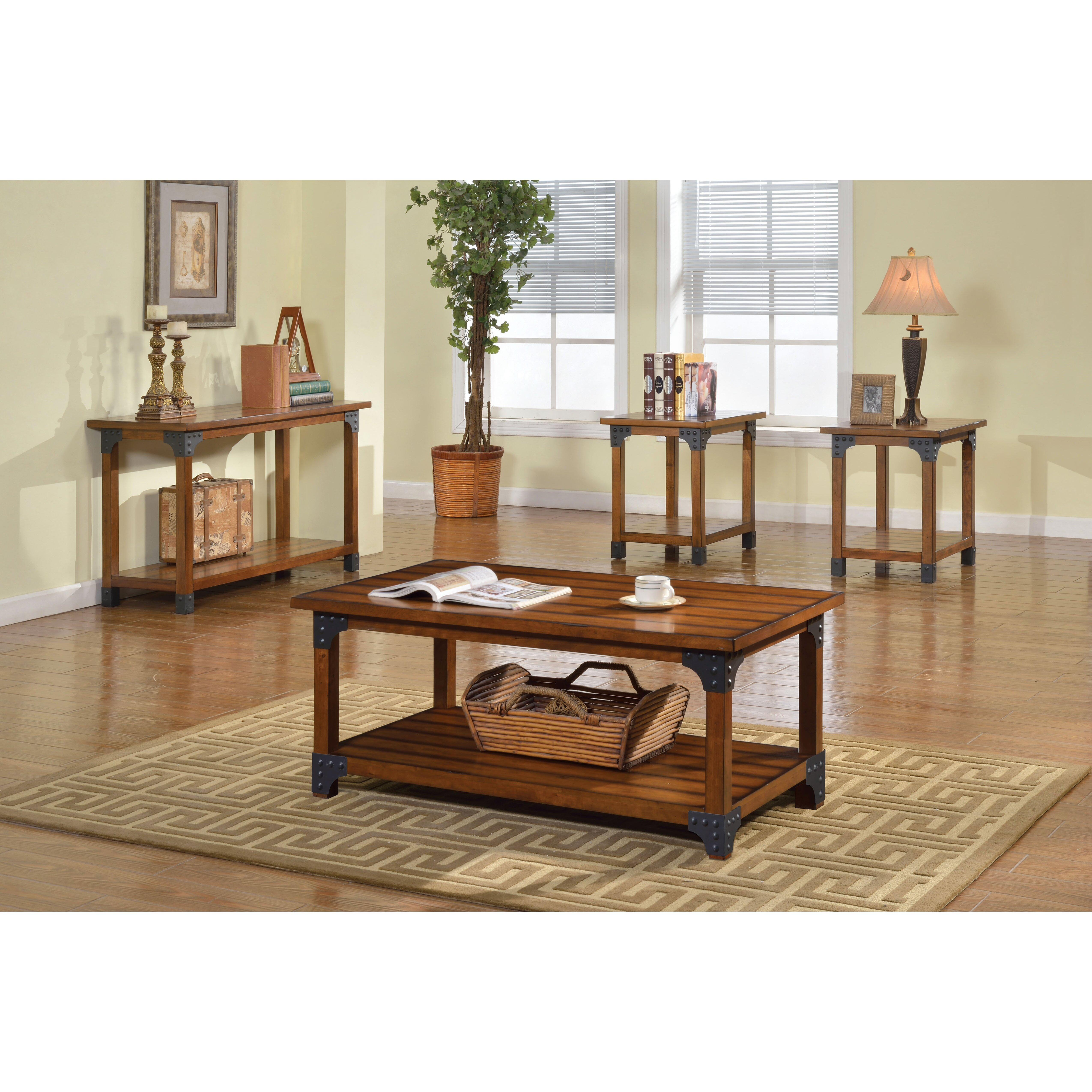 Coffee Table Set Of 3 Hokku Designs Galao 3 Piece Coffee Table Set Reviews Wayfair