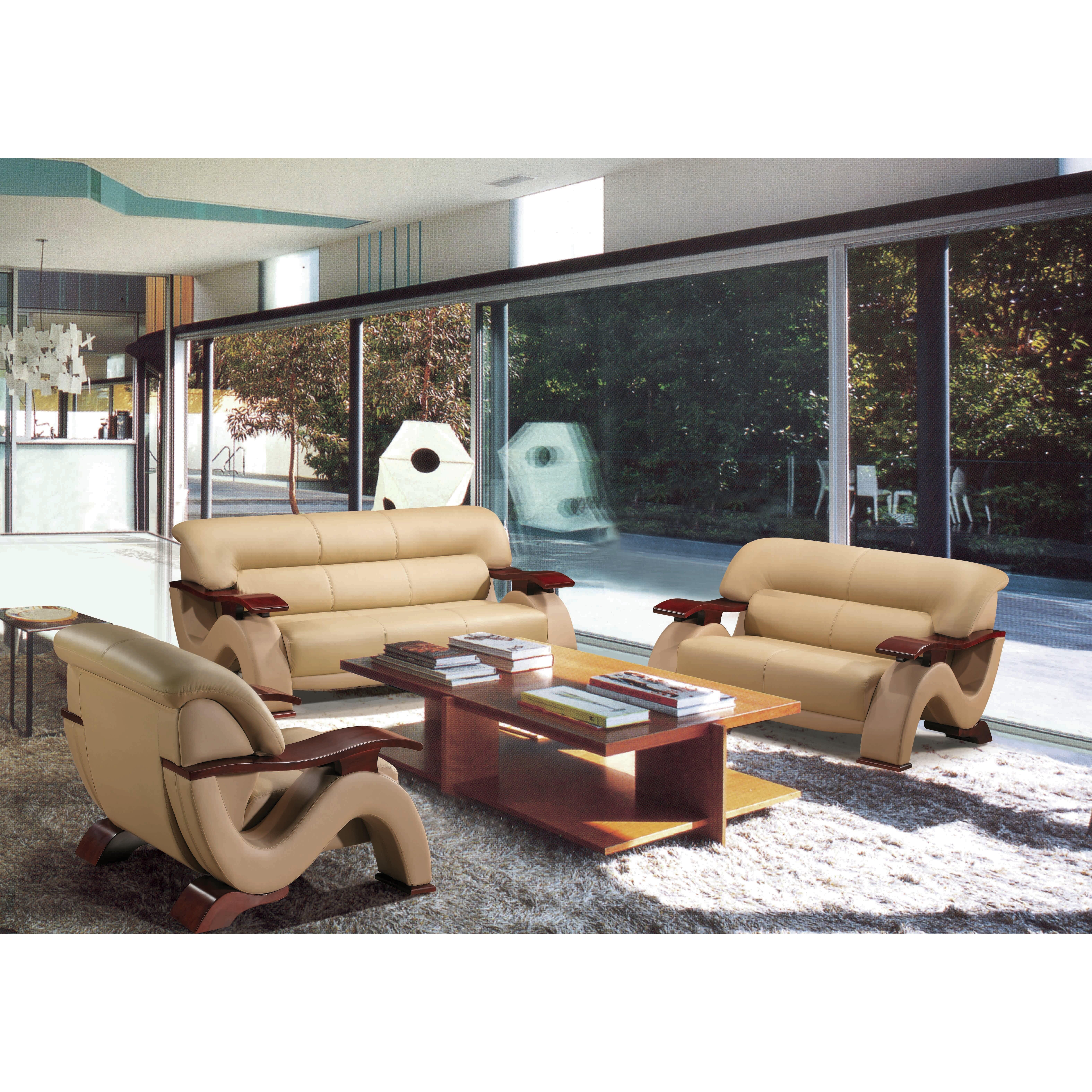 Leather Sofa Set For Living Room Hokku Designs Chrysocolla 3 Piece Leather Sofa Set Reviews Wayfair