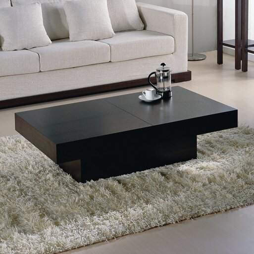 Aurelle Home Amanda Glass Top Rectangle Coffee Table: Nile Motion Coffee Table & Reviews