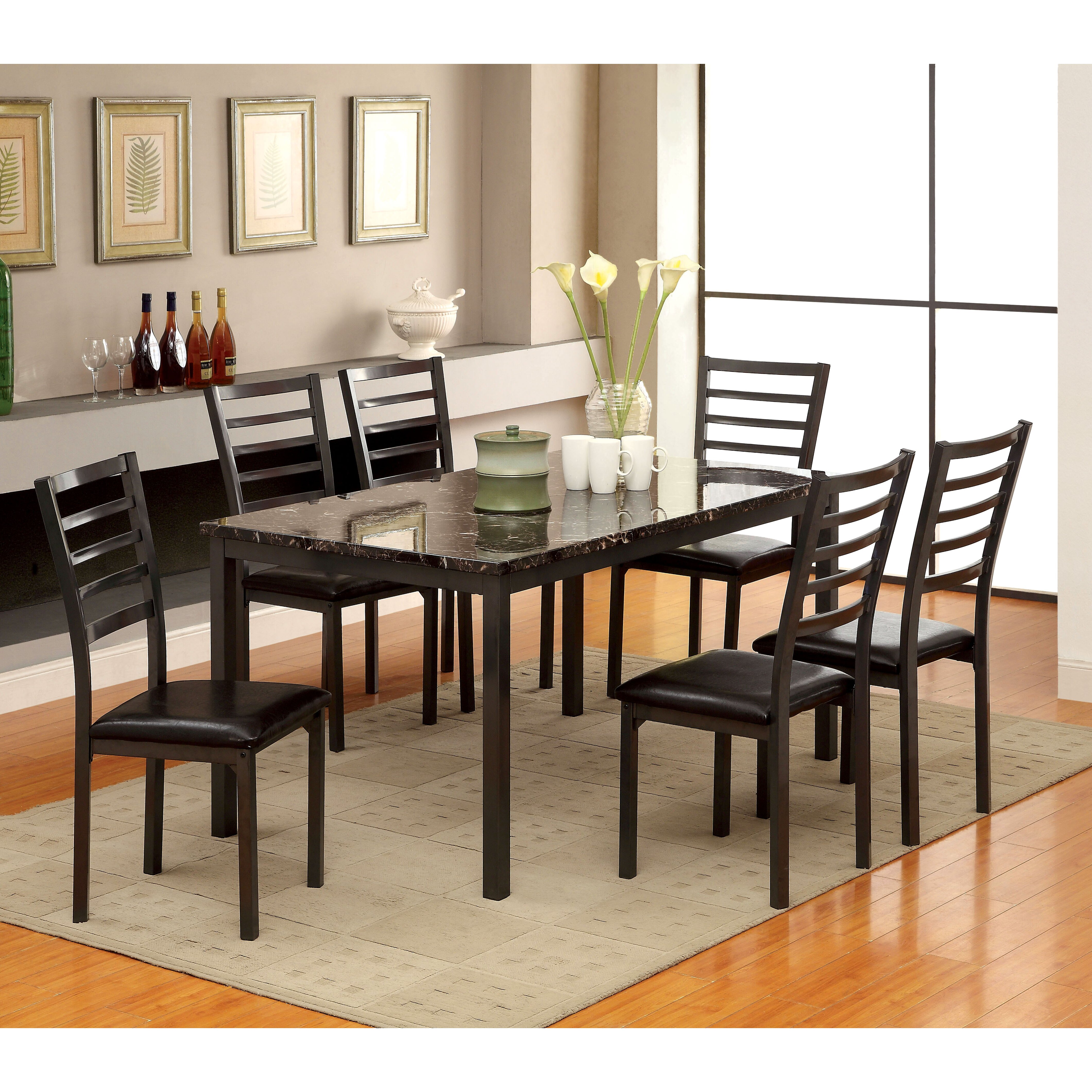 Hokku designs cramer 7 piece dining set reviews for Cramer furniture