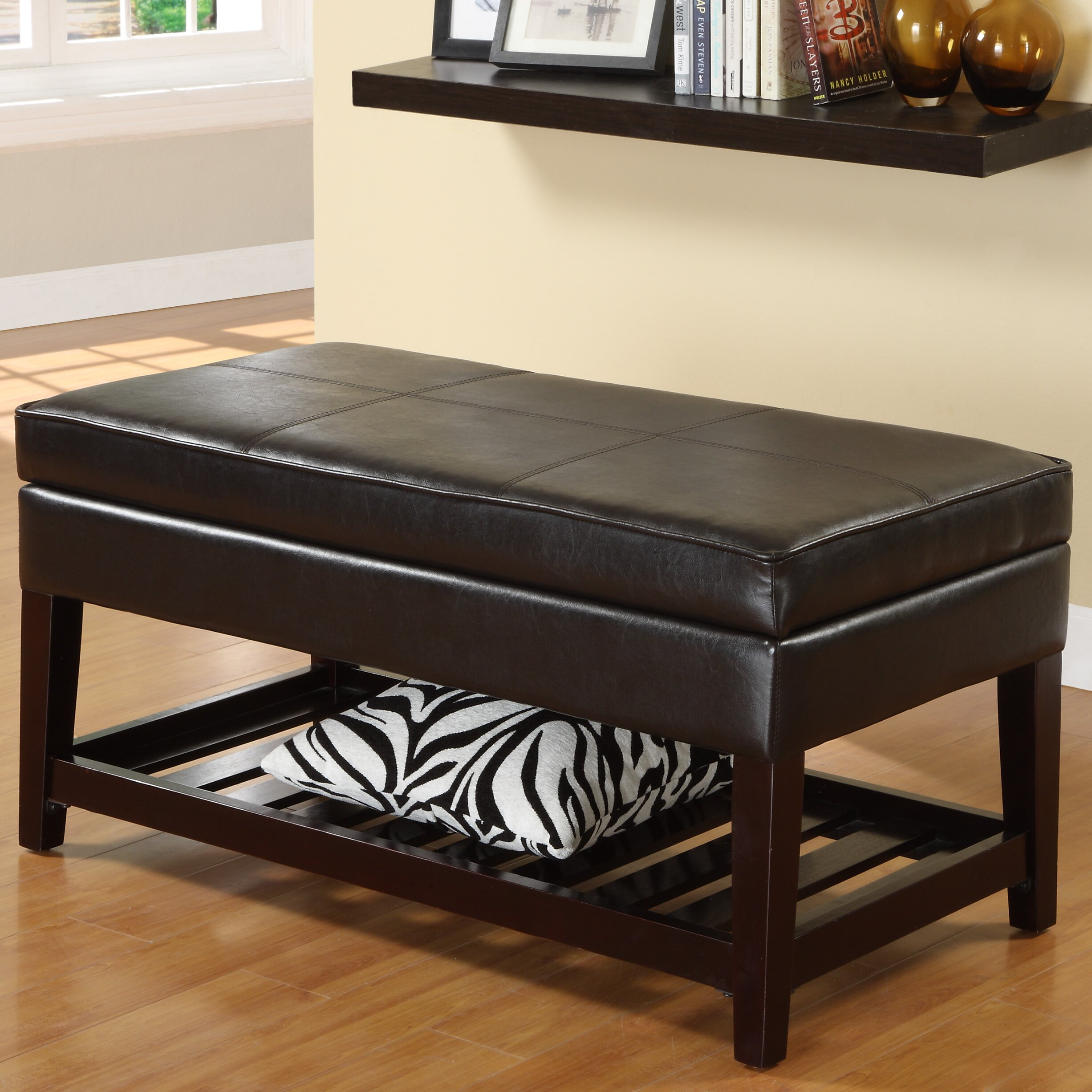 Entryway Bedroom Shoe Storage Organizer Ottoman Bench New: Hokku Designs Ramon One Seat Bench With Storage & Reviews