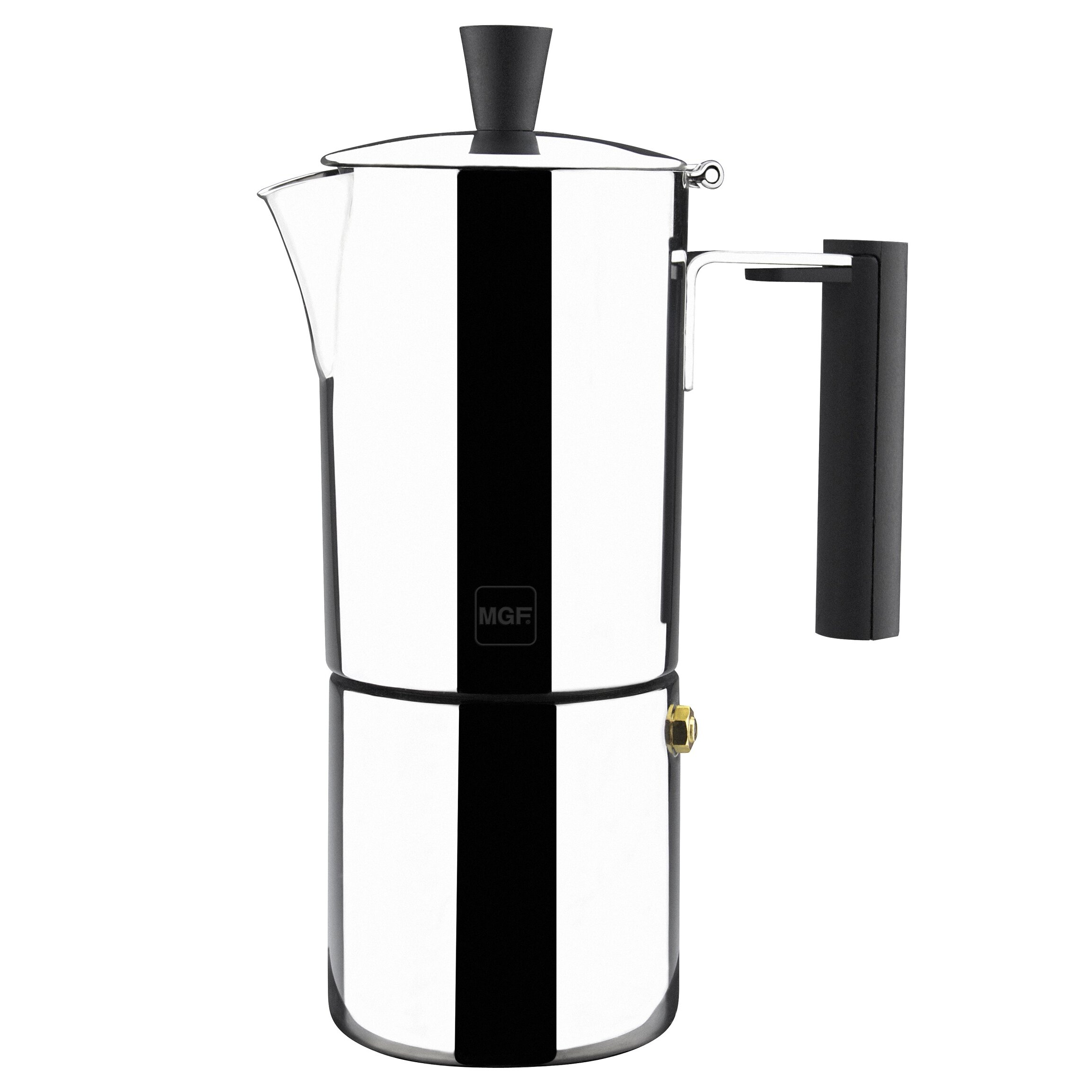 Stainless steel stovetop espresso maker 10 cup - Magefesa Capri Stainless Steel 10 Cups Coffee Maker