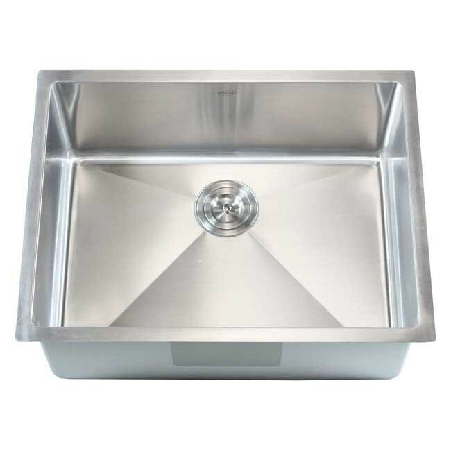 "Emodern Decor Ariel 26"" X 20"" Single Bowl Undermount Kitchen Sink"