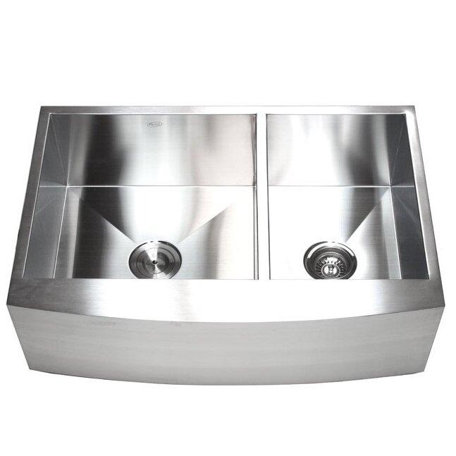 Farmhouse Sink Clearance : ... 60/40 Double Bowl Farmhouse Kitchen Sink & Reviews Wayfair Supply