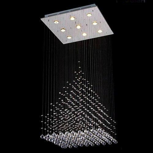 Modern + Contemporary Chandeliers   AllModern:Rain Drop 9-Light Crystal Chandelier,Lighting