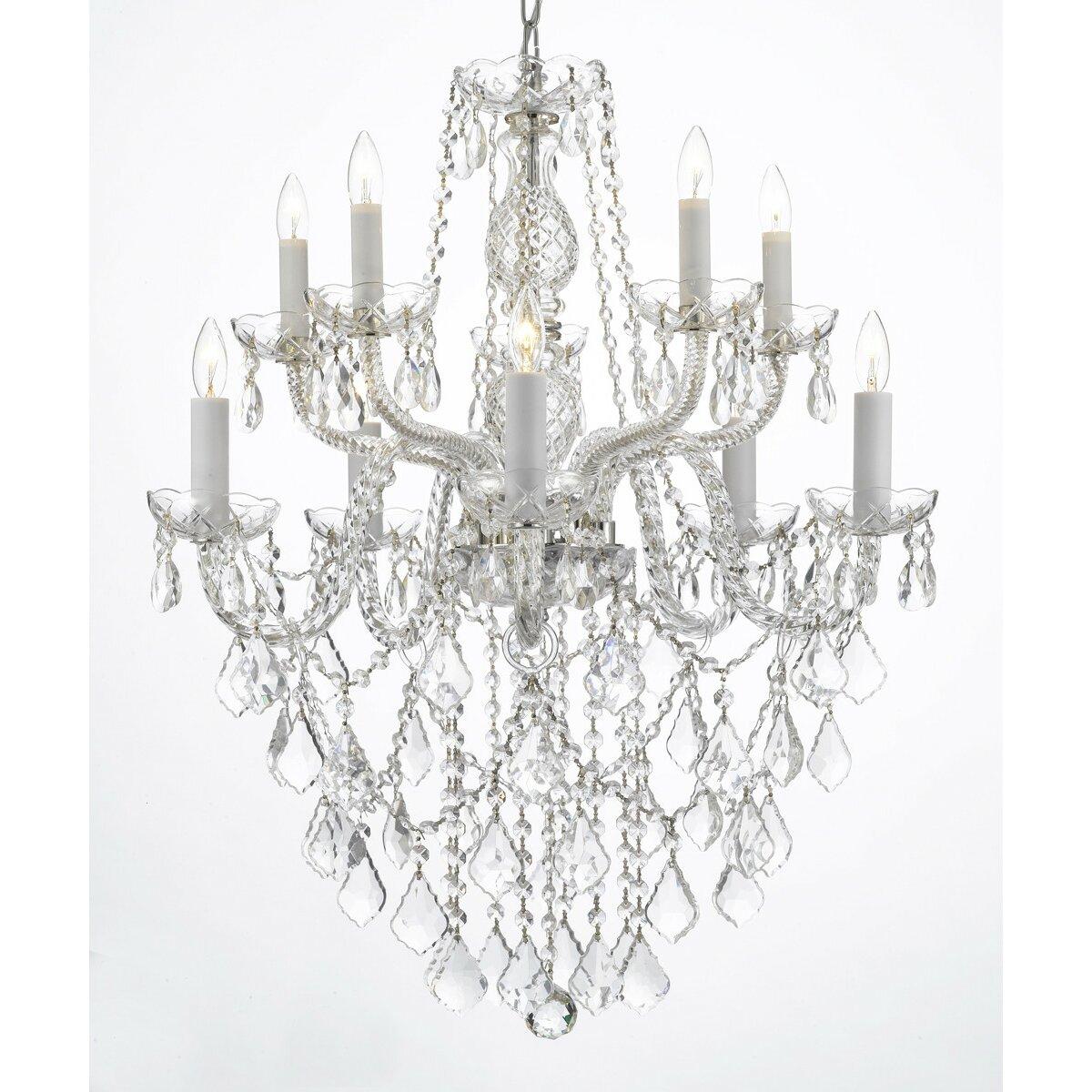 Crystal Chandelier Small Size: Harrison Lane Venetian 10-Light Crystal Chandelier
