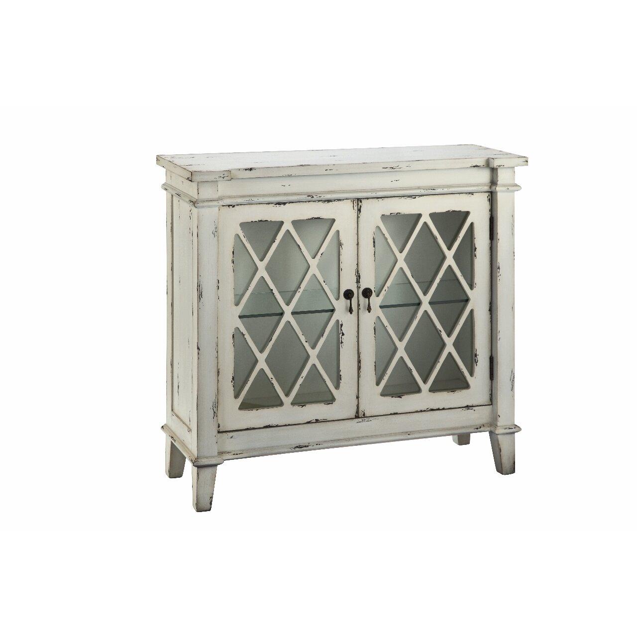 Glass Door Cabinet Stein World Goshen 2 Glass Door Cabinet Reviews Wayfair