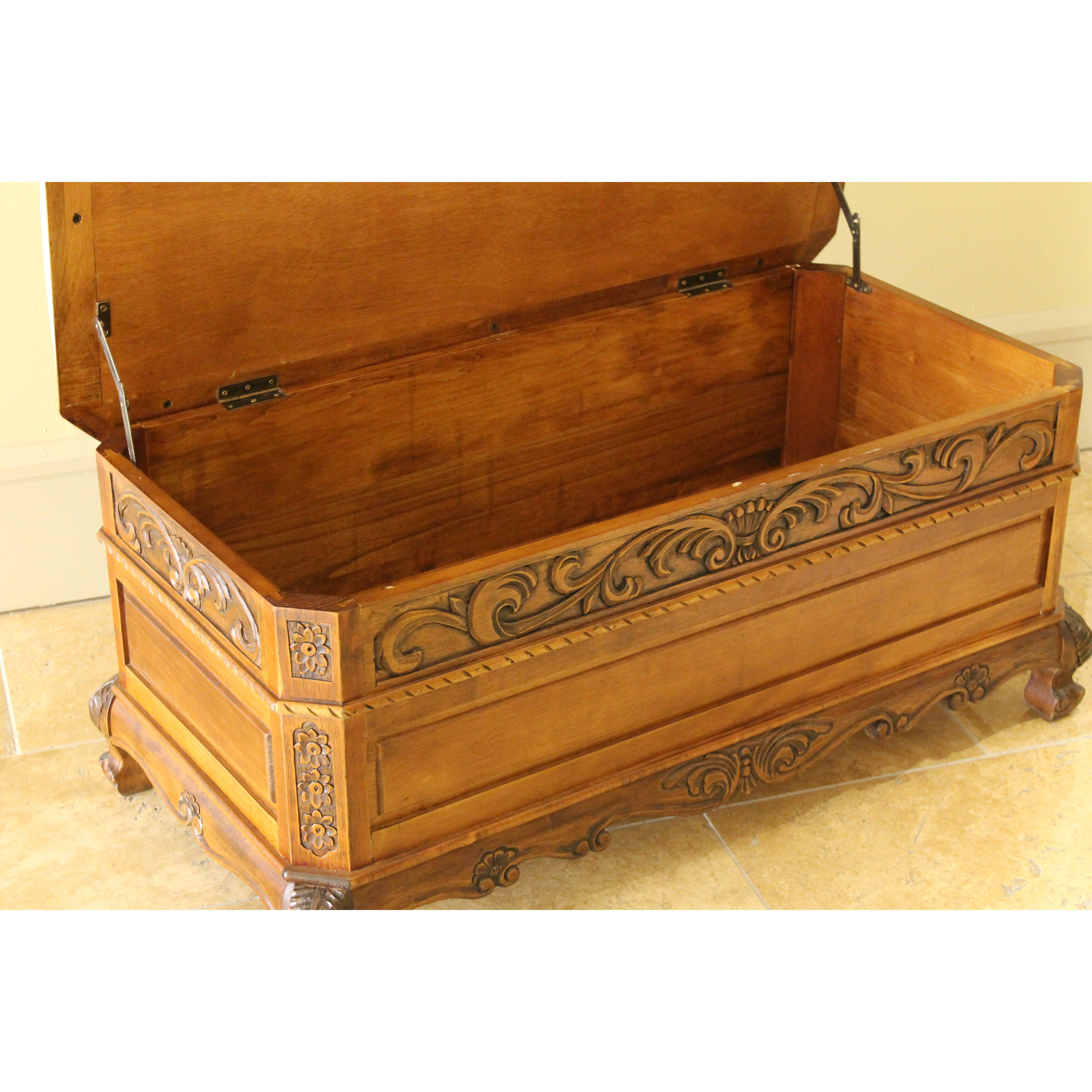 Bedroom Bench Storage International Caravan Windsor Hand Carved Storage Bedroom Bench