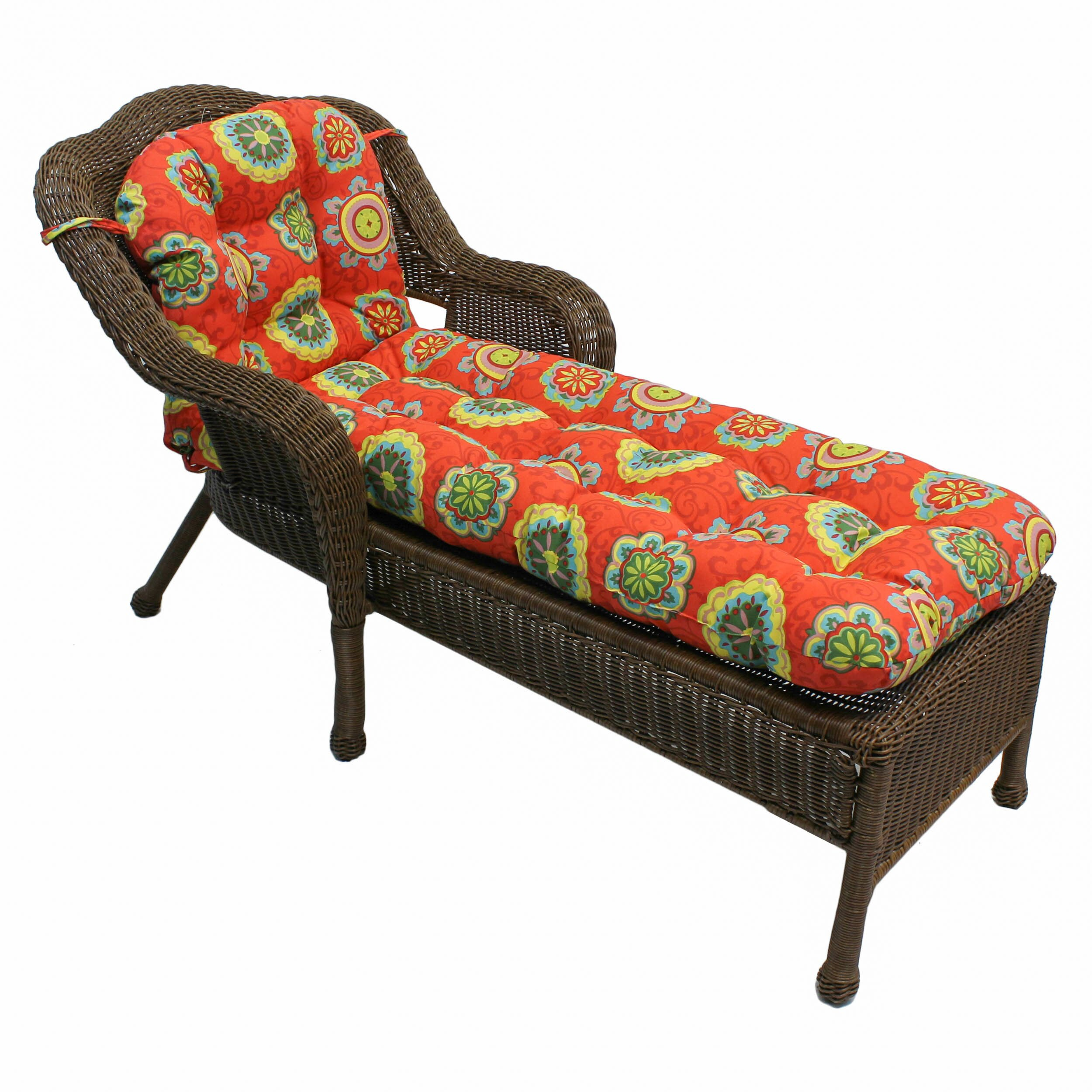 Blazing Needles Outdoor Chaise Lounge Cushion & Reviews