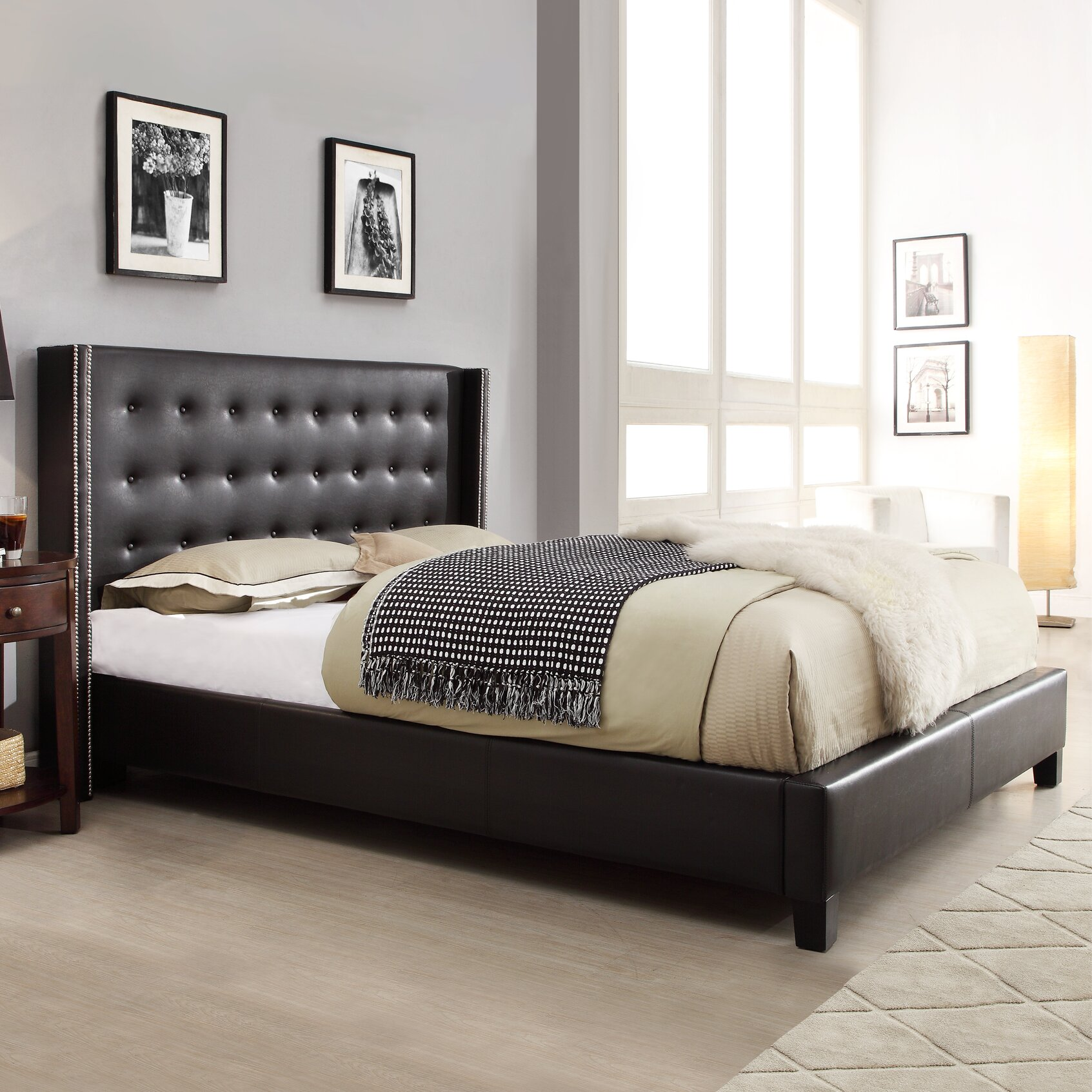 Kingstown Bedroom Furniture Kingstown Home Mackenna Upholstered Platform Bed Reviews Wayfair