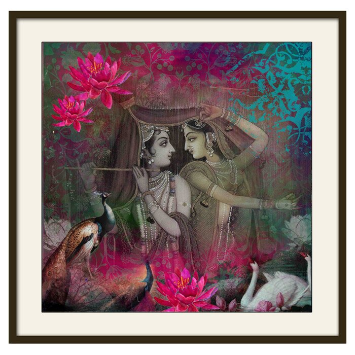 Wall Decor Radha Krishna : Indiacircus radha krishna wall art wayfair uk