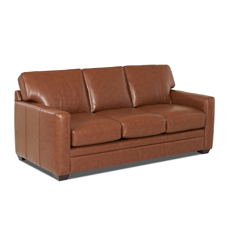 Wayfair Custom Upholstery Carleton Leather Sleeper Sofa ...