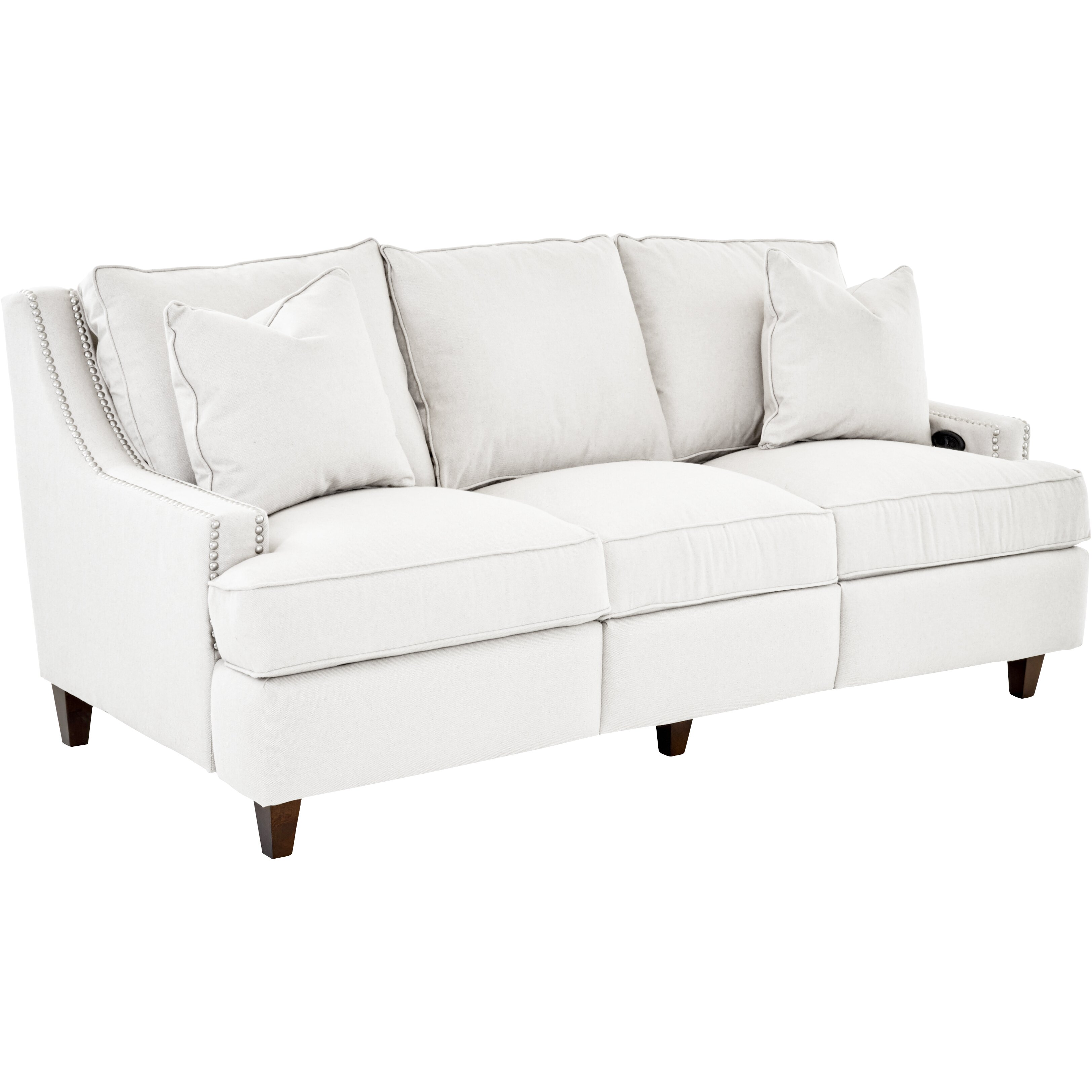 Wayfair Custom Upholstery Tricia Power Hybrid Reclining Sofa Amp Reviews Wayfair Ca