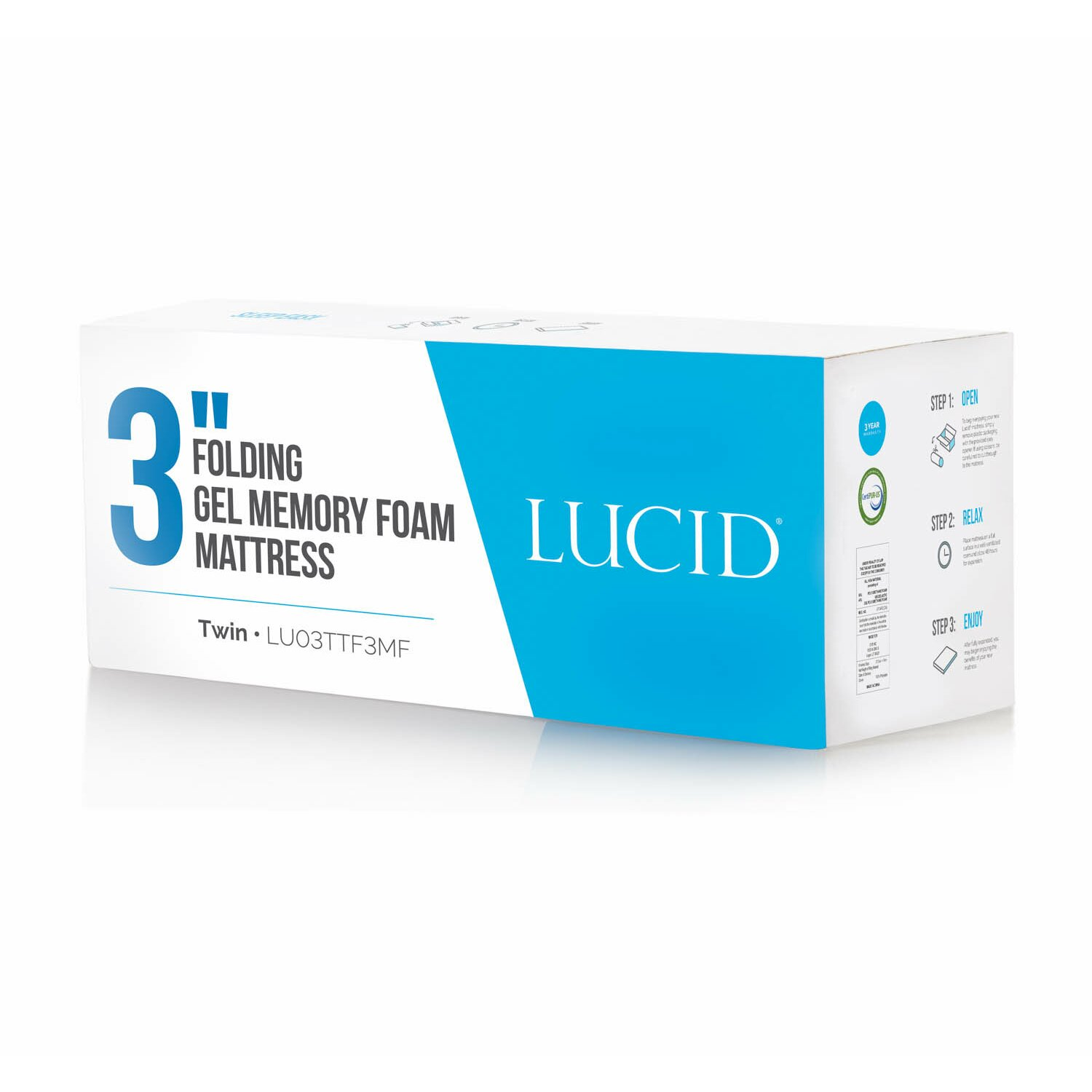 "Lucid 3"" Gel Memory Foam Mattress & Reviews"