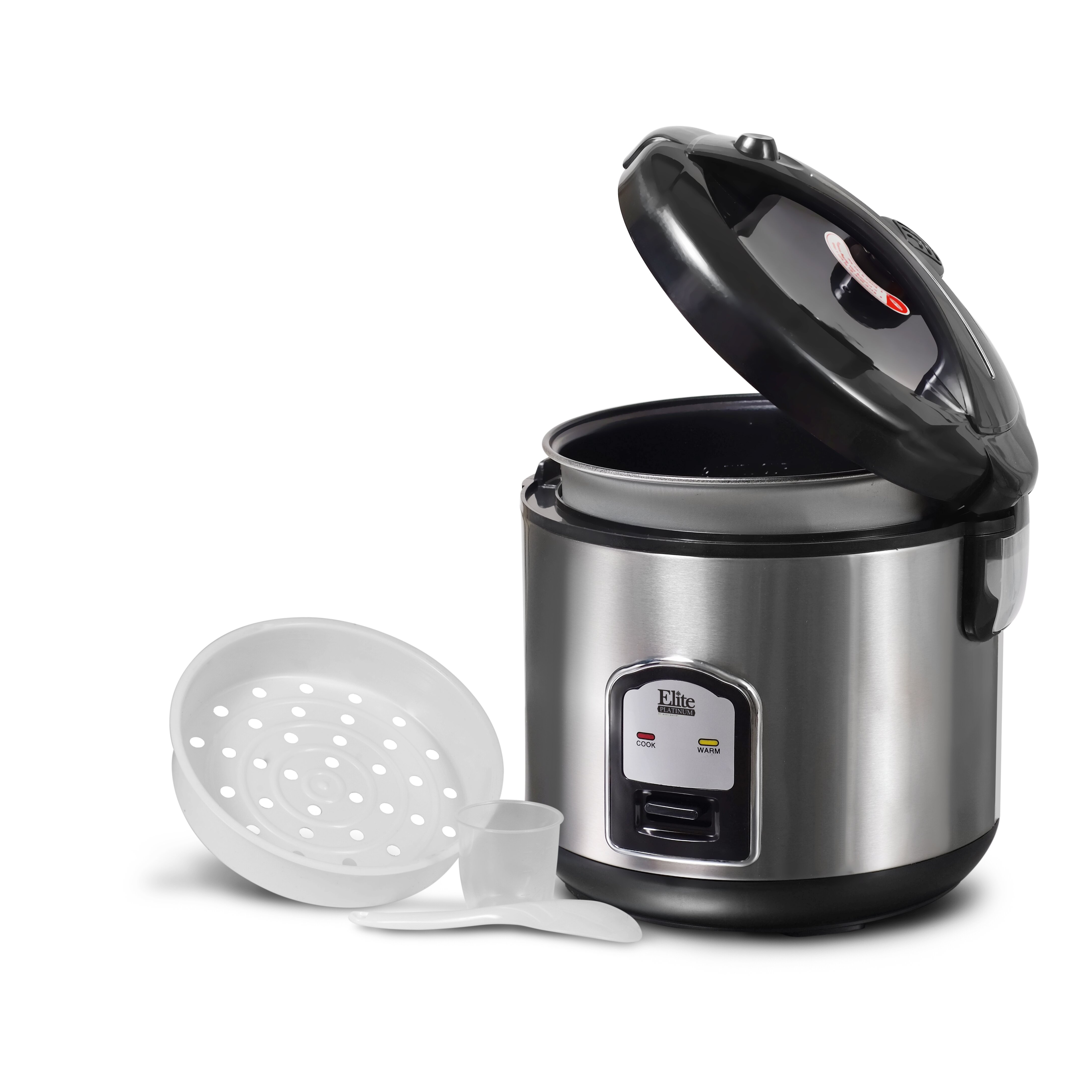 Elite By Maximatic Platinum 20 Cup Stainless Steel Rice Cooker When Quinoa  Is Cooked