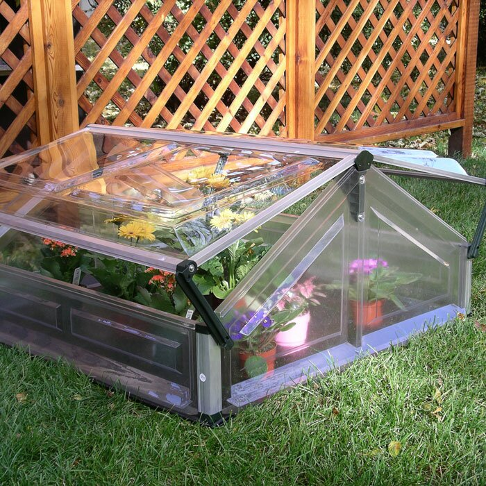 palram 35 ft w x 35 ft d cold frame greenhouse