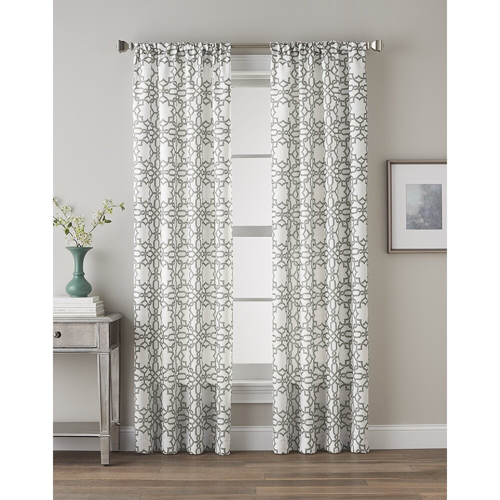 Moroccan tile pattern curtains - Quick View