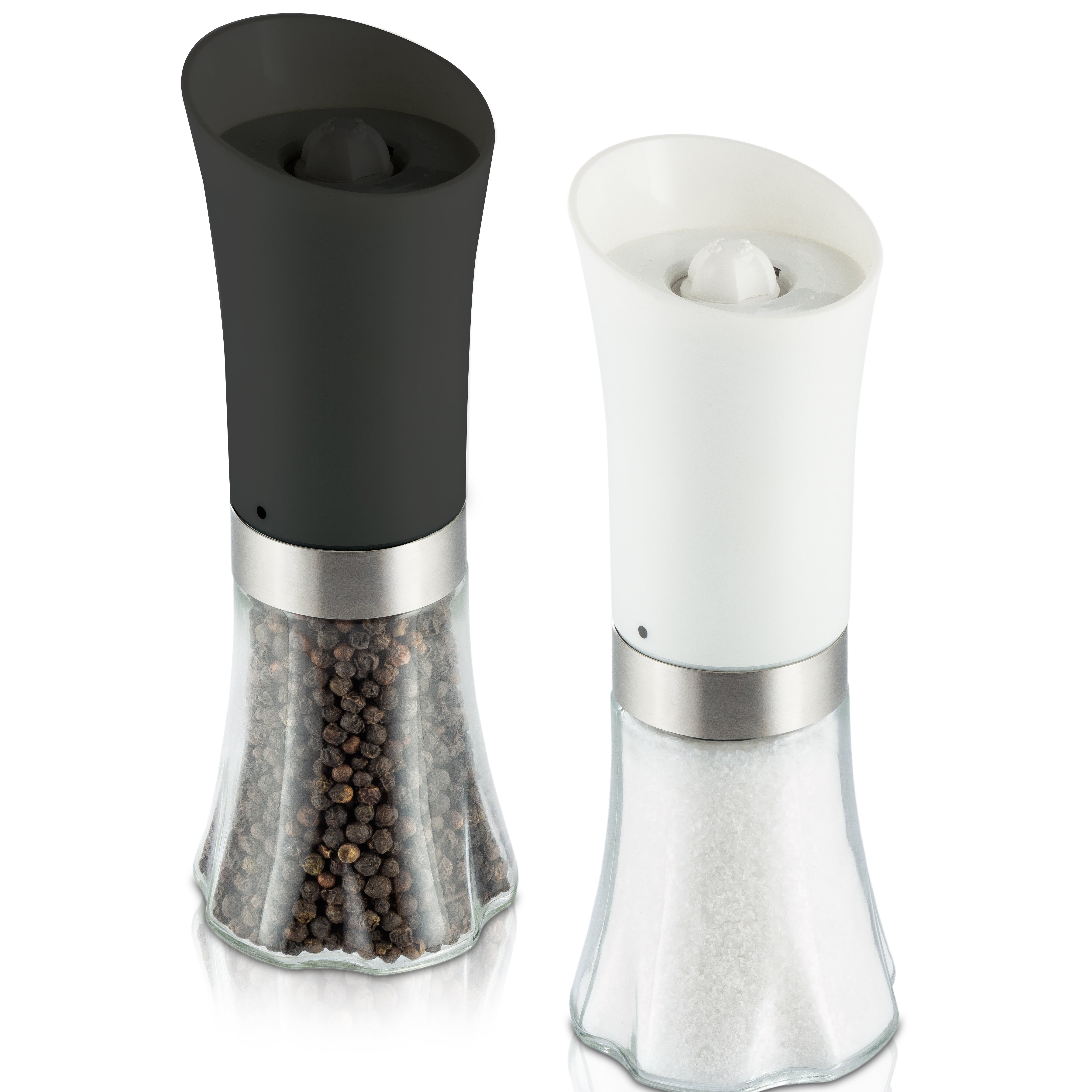 modernhome deluxe salt and pepper mill set wayfair. Black Bedroom Furniture Sets. Home Design Ideas