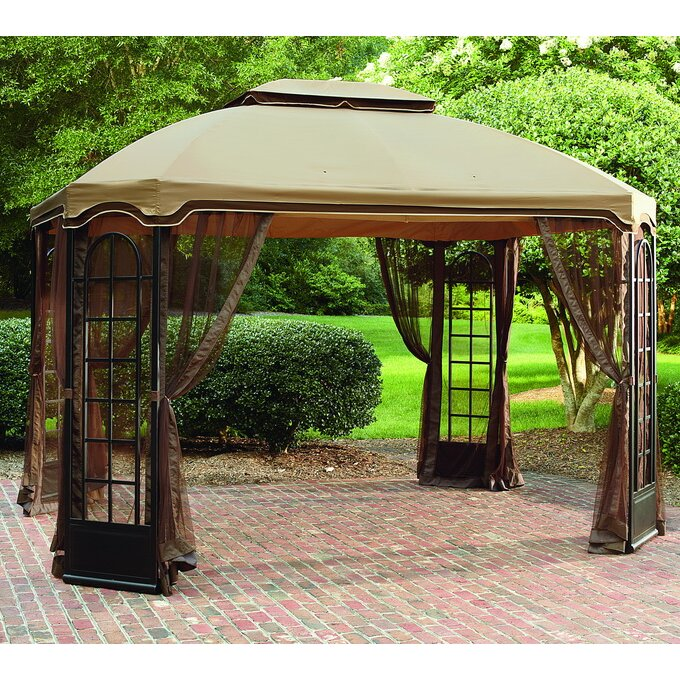 Sunjoy replacement canopy for 12 39 w x 10 39 d terrace gazebo for Terrace gazebo