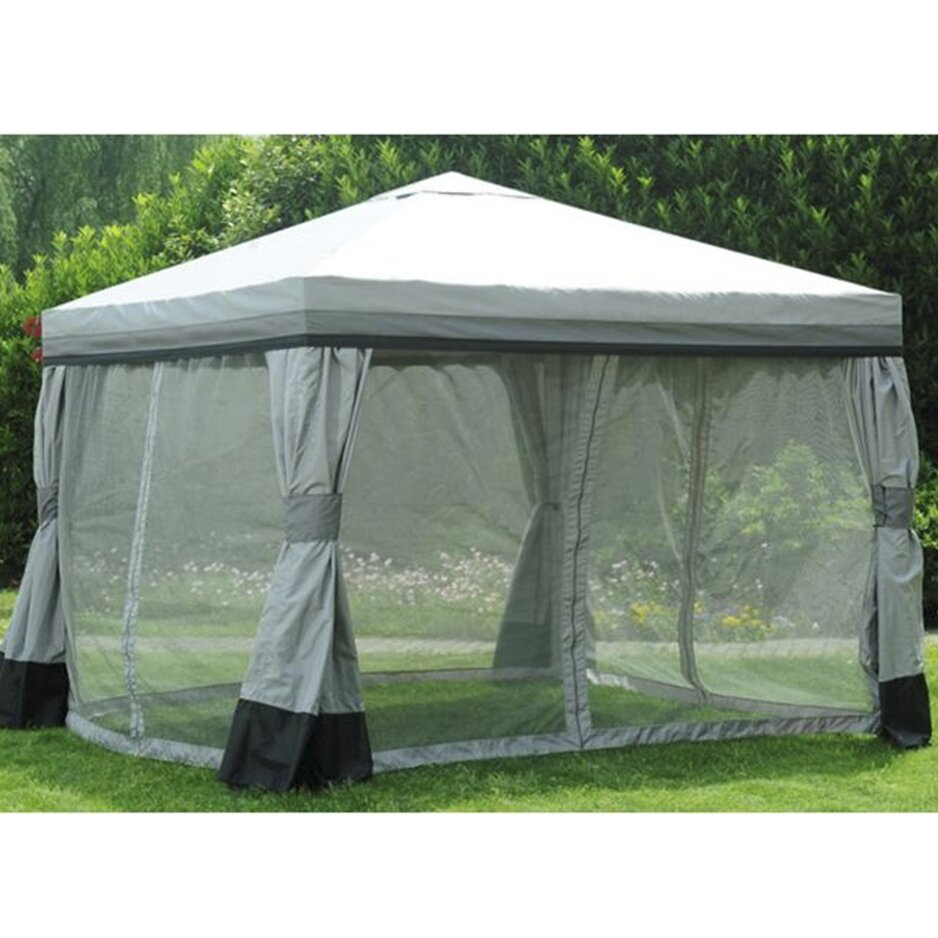 Sunjoy replacement mosquito netting for valence gazebo - Small gazebo with netting ...