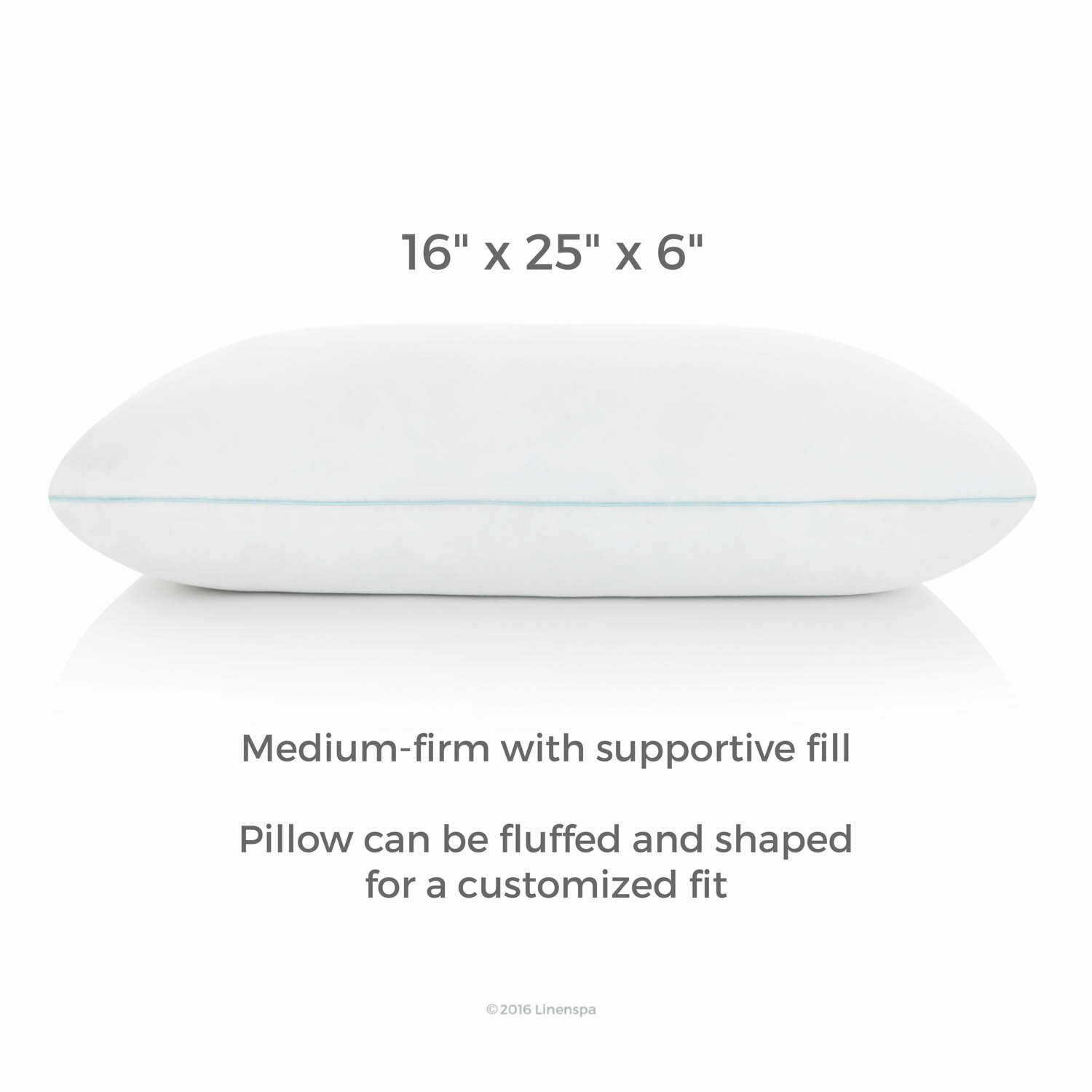 Spa Supreme Traditional Memory Foam Pillow : Linenspa Shredded Memory Foam Pillow & Reviews Wayfair