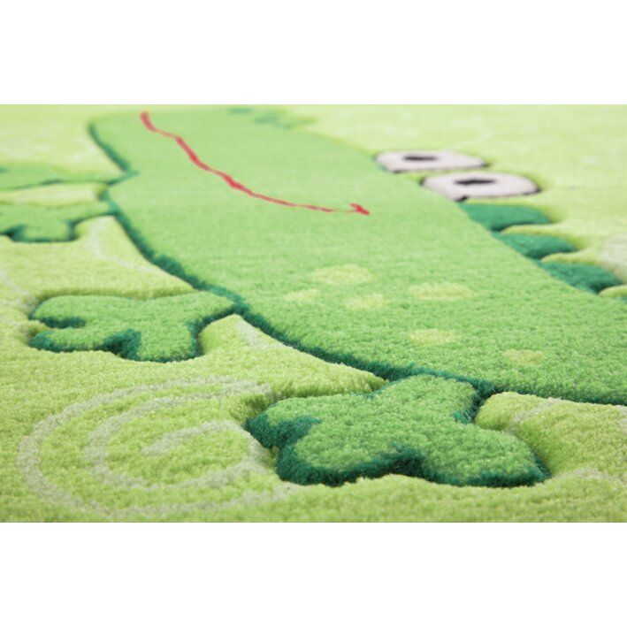 Sigikid Happy Zoo Crocodile Green Children's Area Rug