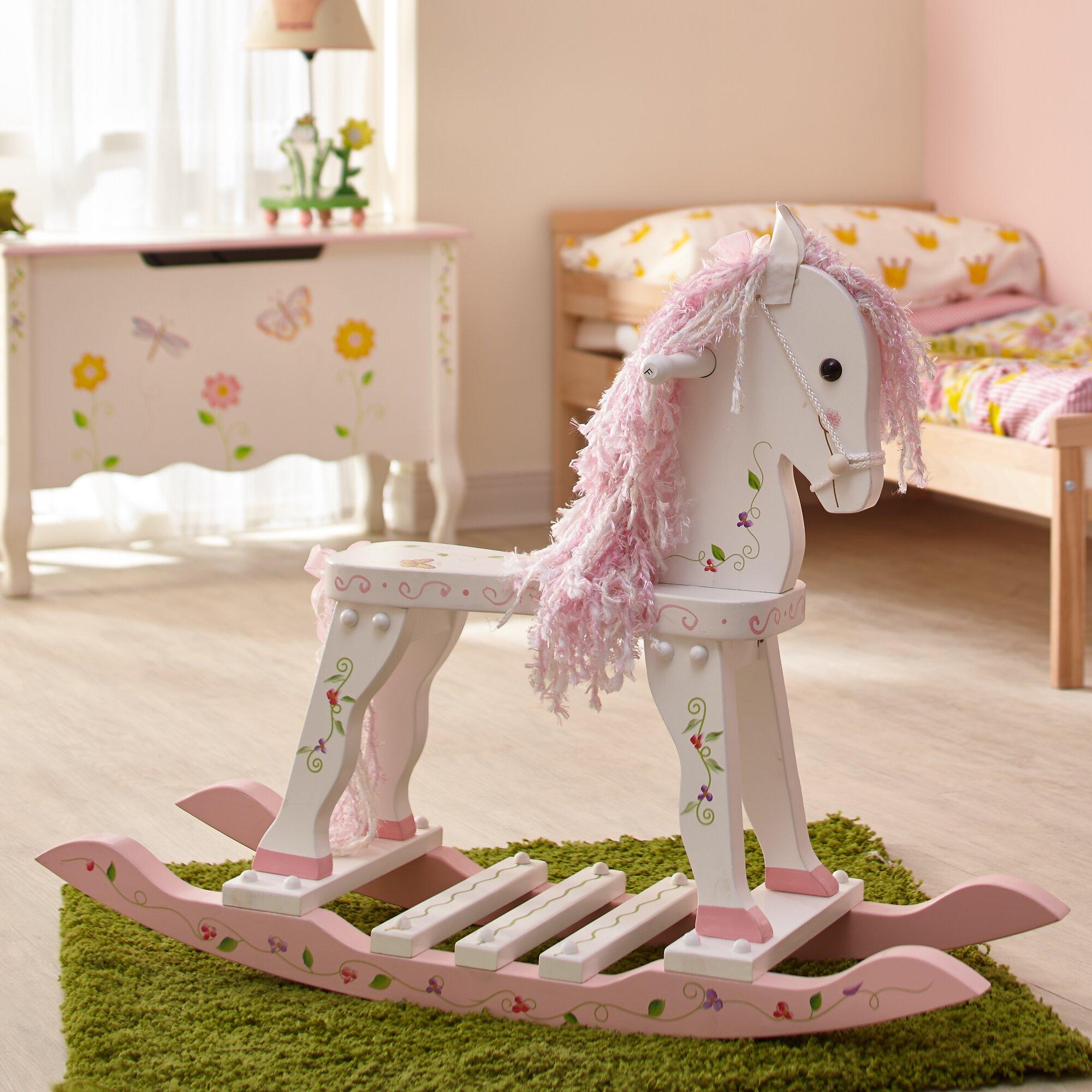 Princess And The Frog Bedroom Decor Fantasy Fields Princess Frog Rocking Horse Reviews Wayfair