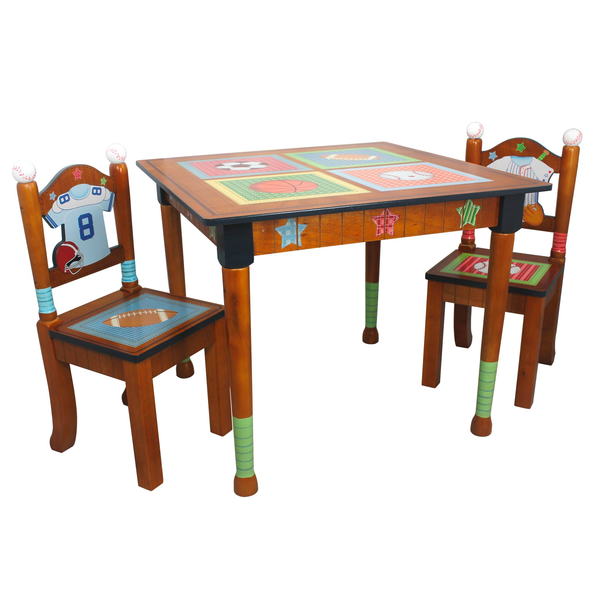 Table Set For Kids Fantasy Fields Kids 3 Piece Rectangular Table Chair Set