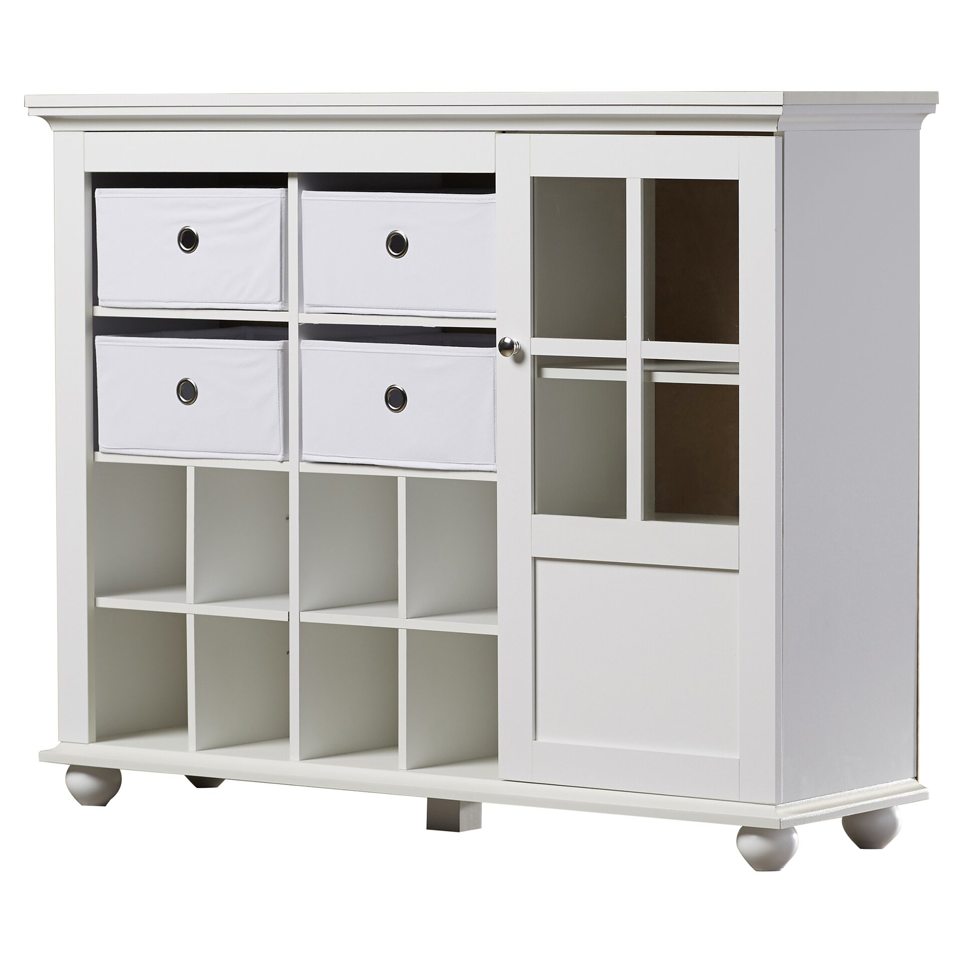 Zipcode design anna storage cabinet reviews wayfair for White cabinets for sale