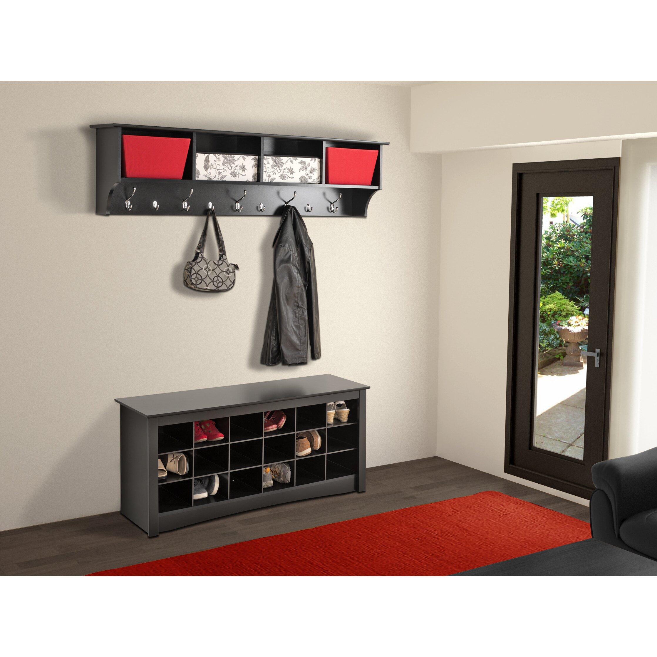 """Zipcode™ design mackenzie 60"""" hanging entryway 9 hook storage ..."""