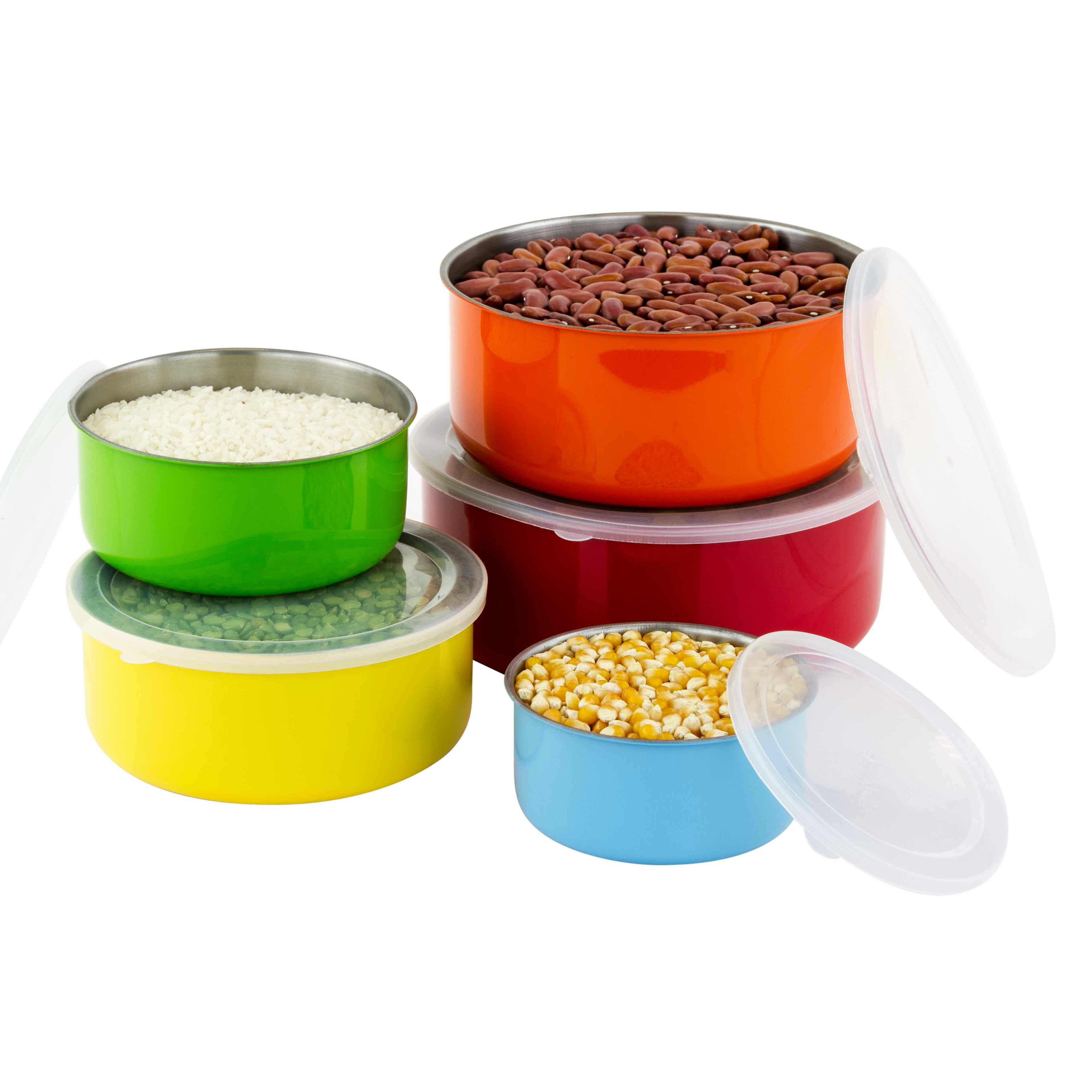 Cuisinart stainless steel mixing bowls with lids - Zipcode Trade Design Cynthia 10 Piece Colorful Stainless Steel Mixing Bowl Set