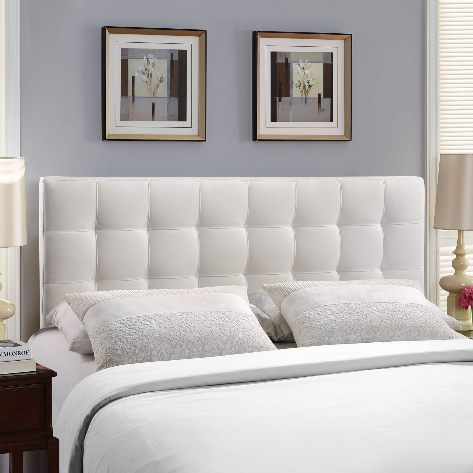 Bed headboard upholstered - Zipcode Trade Design Francis Queen Upholstered Panel Headboard