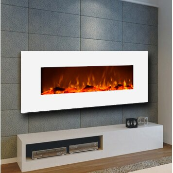 Ivory Wall Mount Electric Fireplace Reviews AllModern