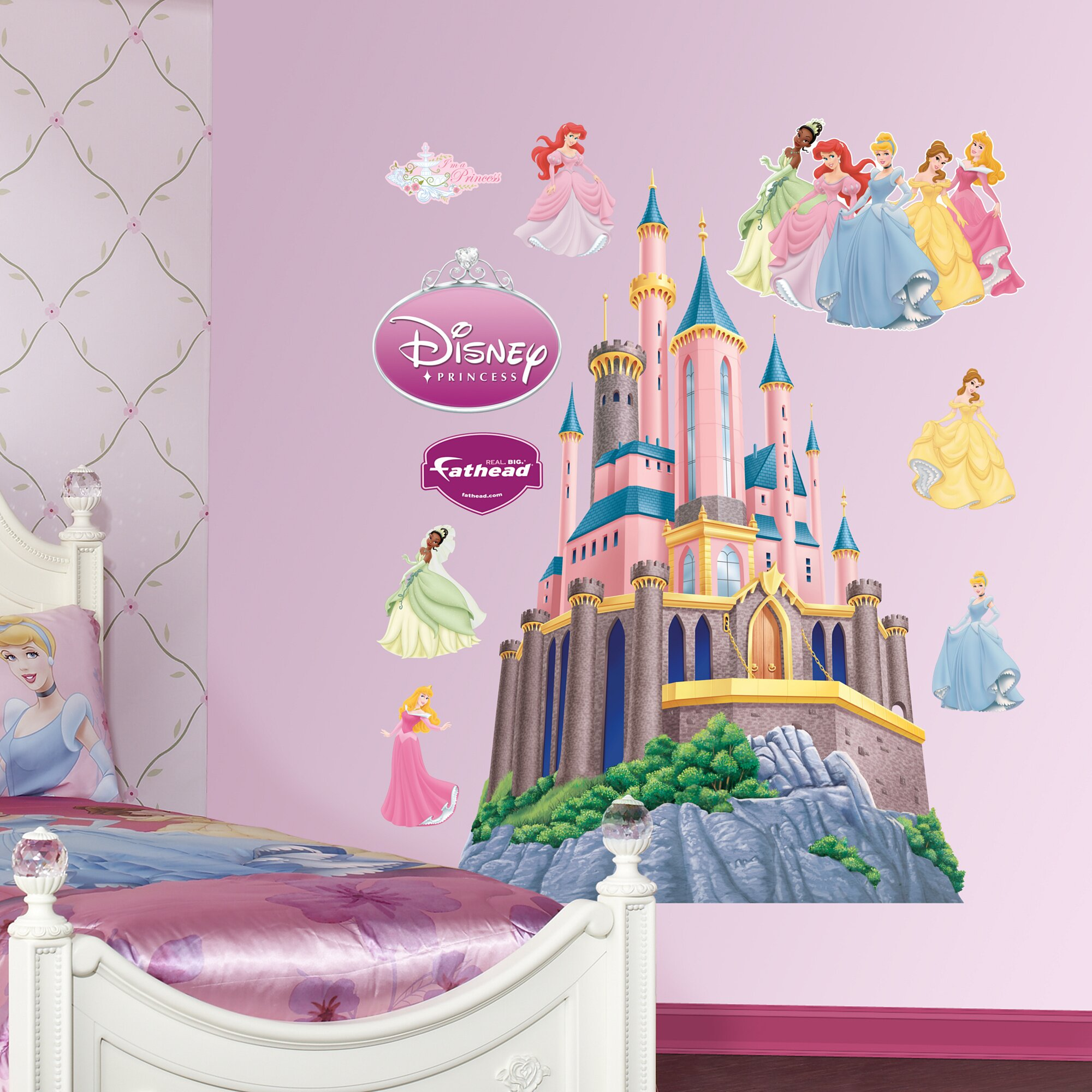 Fathead Disney Princess Castle Wall Decal