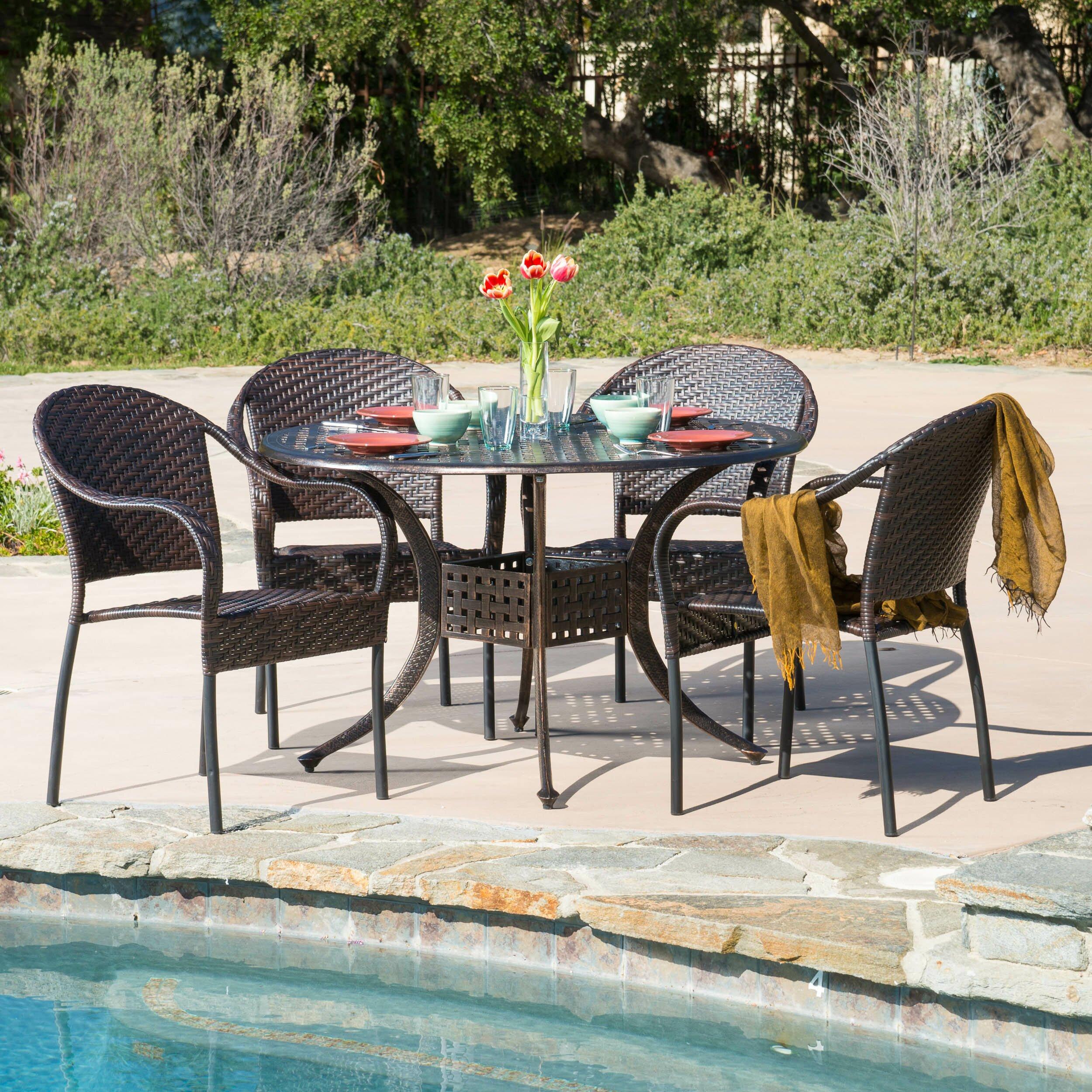 Home Loft Concepts August 5 Piece Dining Set Reviews