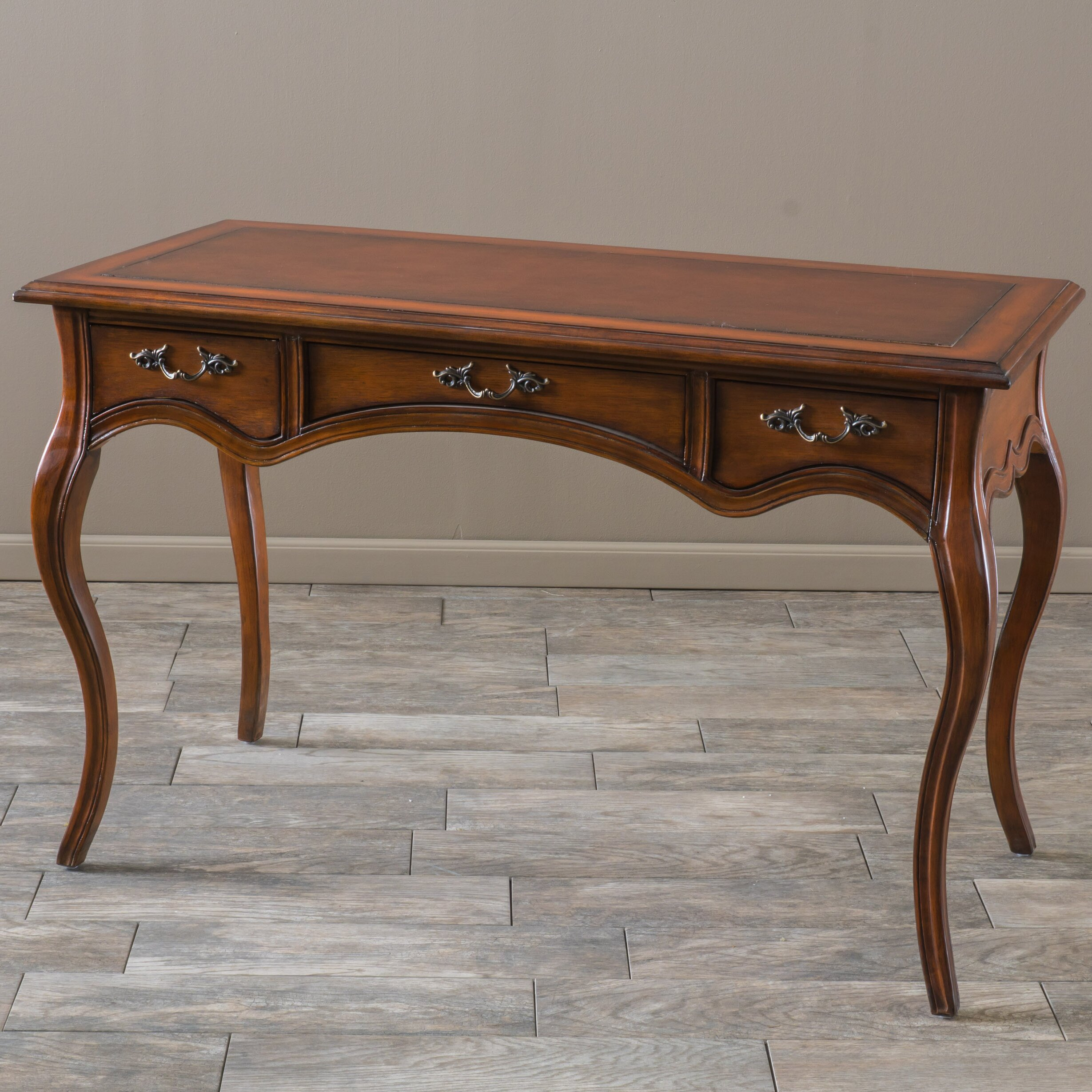 Amazing photo of  Victorian Writing Desk with 3 Drawers & Reviews Wayfair Supply with #3E2515 color and 2458x2458 pixels