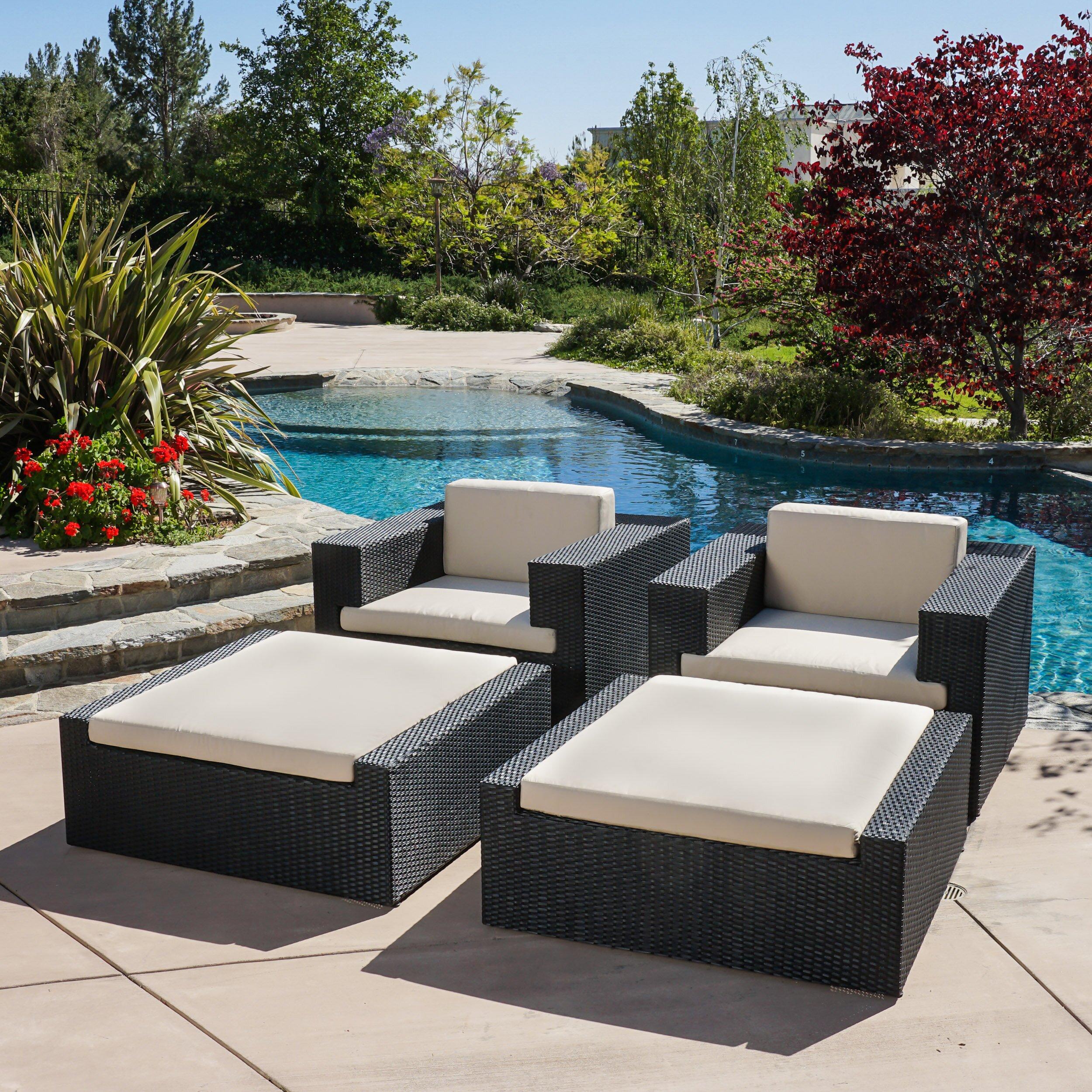 Home Loft Concepts Ventura 4 Piece Lounge Chair Set With