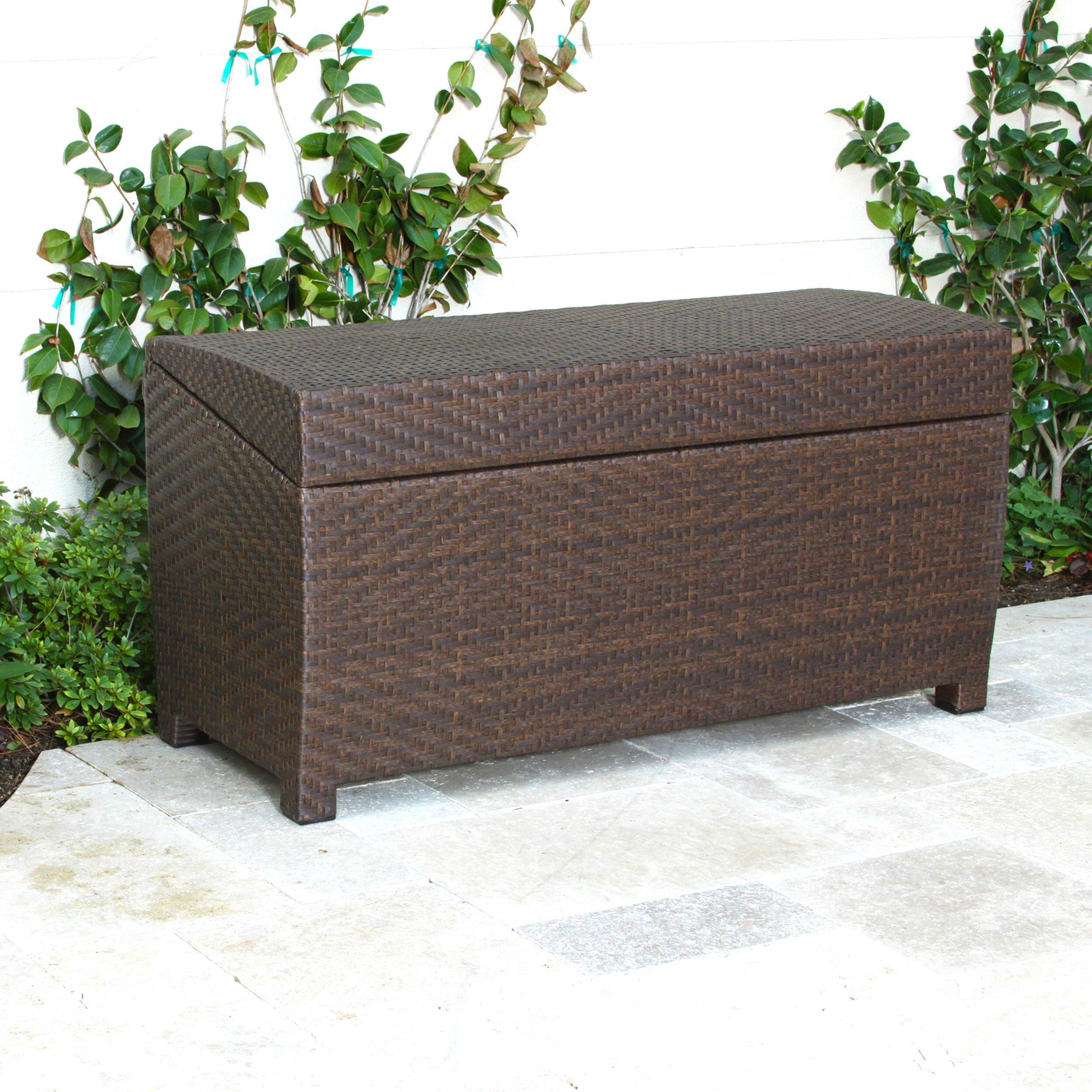 Home Loft Concepts Managua Outdoor 70 Gallon Wicker Deck