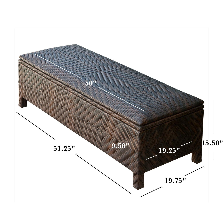 Home loft concepts casarano 30 gallon wicker storage bench reviews 30 bench