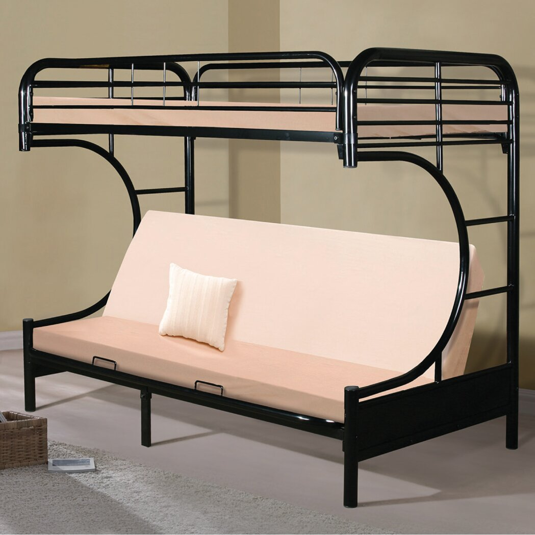 Bunk bed with couch on bottom - C Frame Twin Over Full Futon Bunk Bed