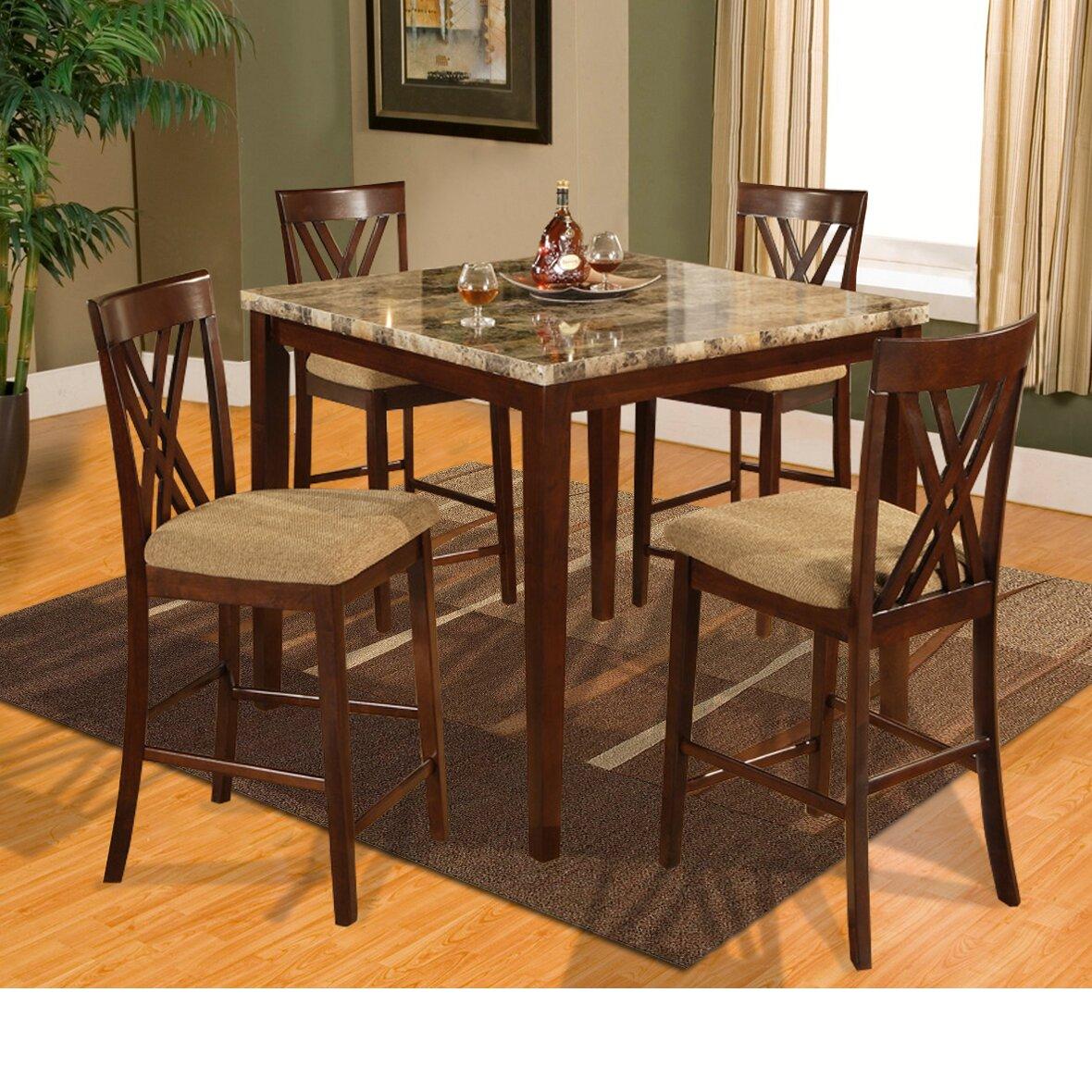 Dinettes Sets: Hazelwood Home Counter Height 5 Piece Dinette Set
