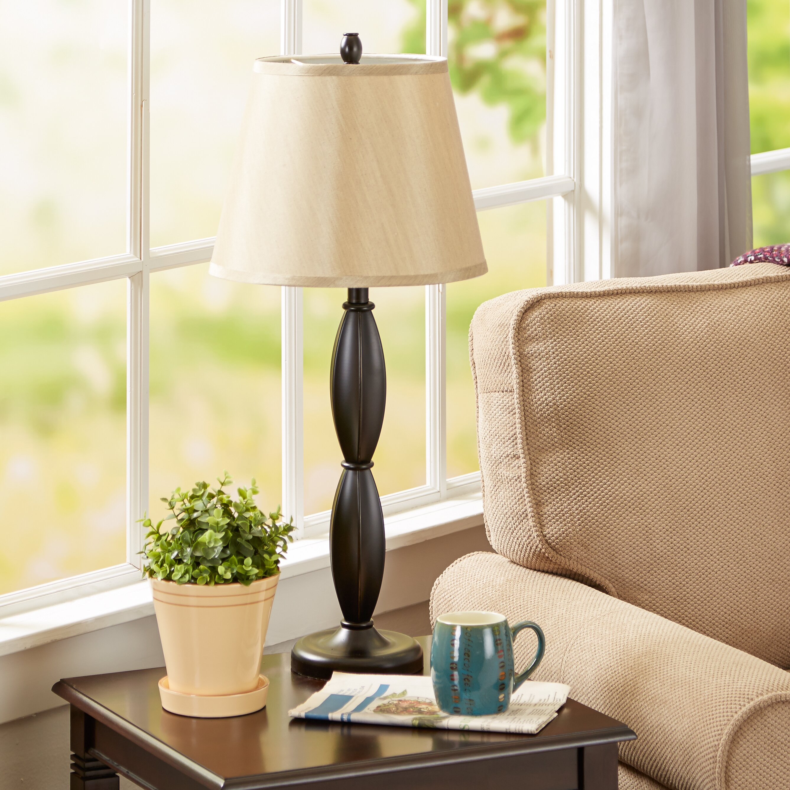Living room table lamp sets